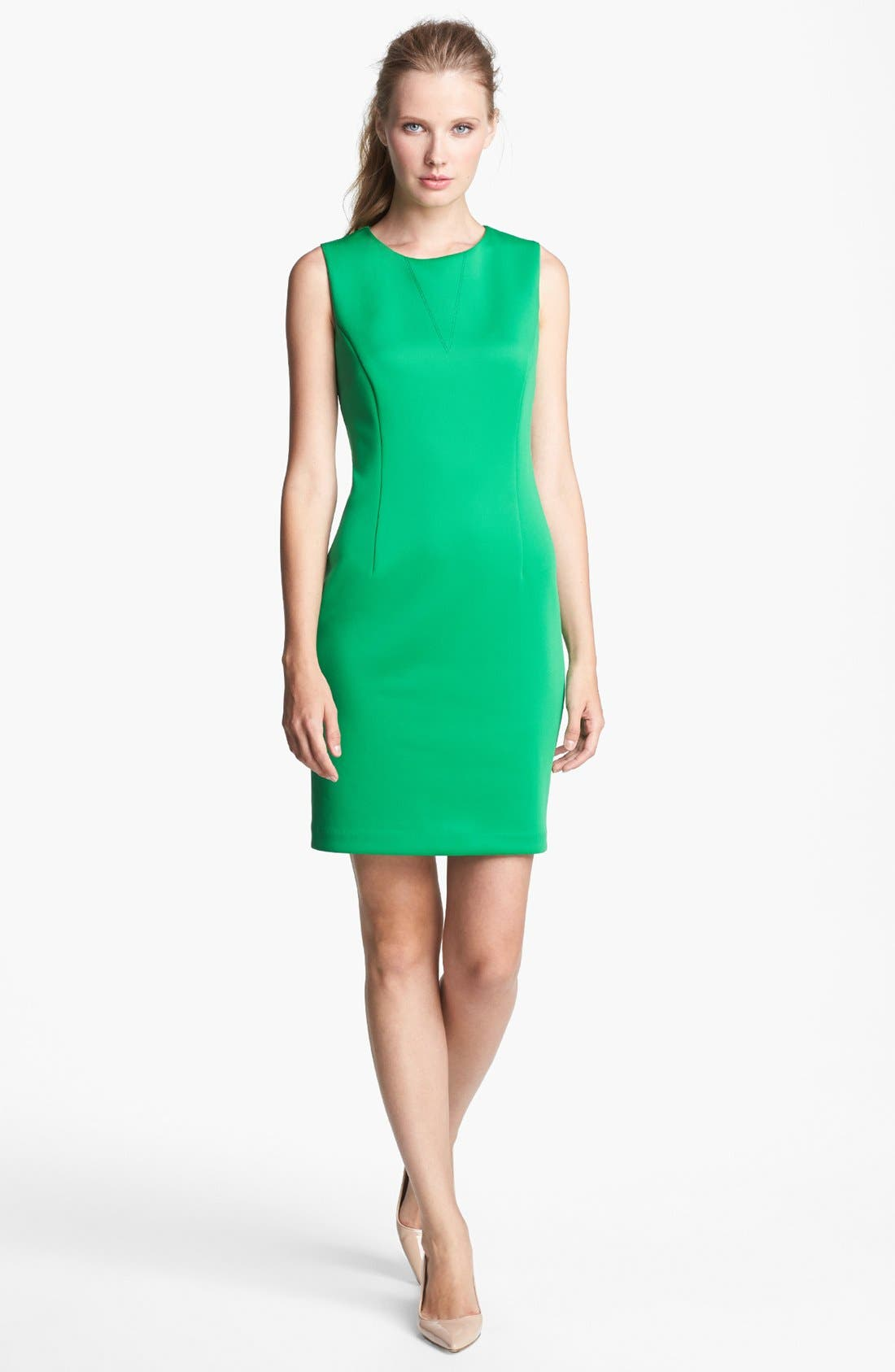 Alternate Image 1 Selected - Vince Camuto Scuba Knit Sheath Dress