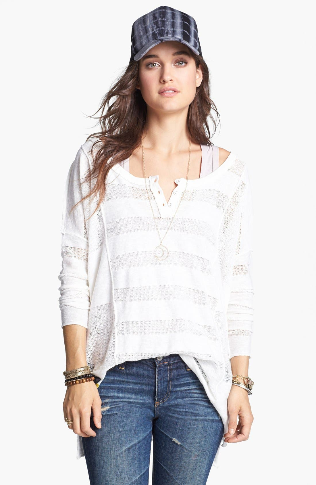 Main Image - Free People 'Wild Horses' Linen Blend Henley
