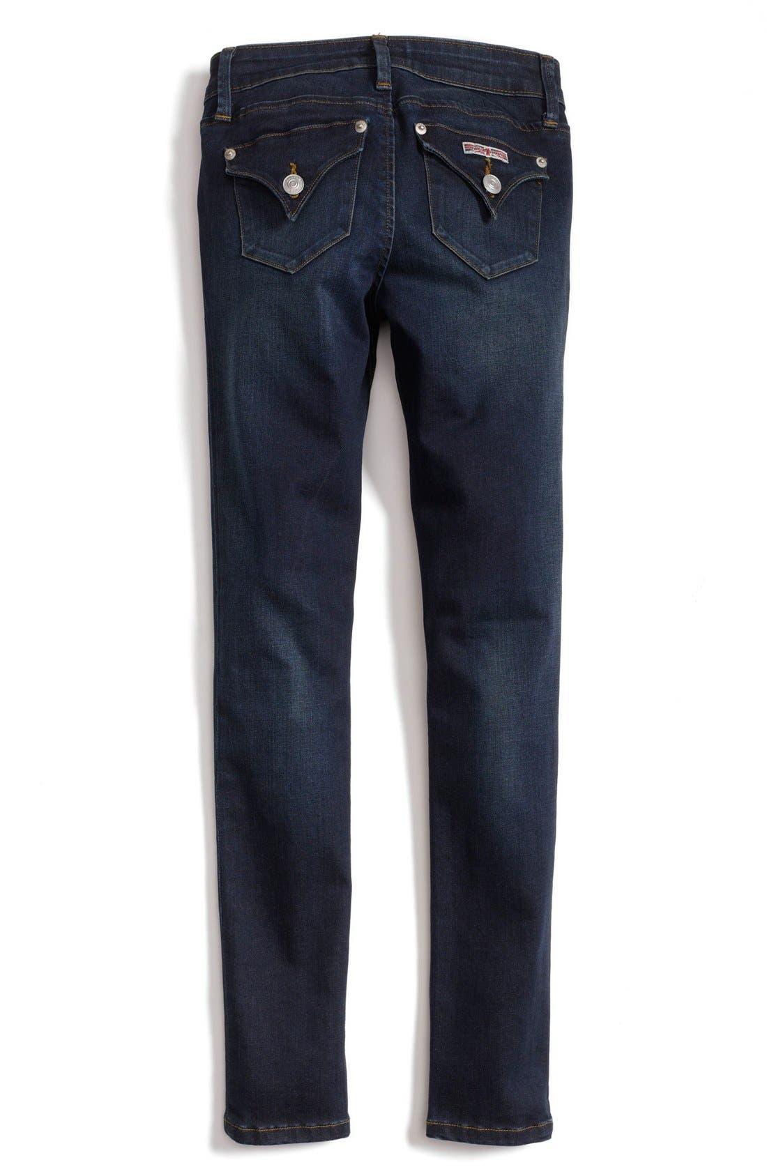 Alternate Image 1 Selected - Hudson Kids 'Collin' Skinny Jeans (Toddler Girls & Little Girls)