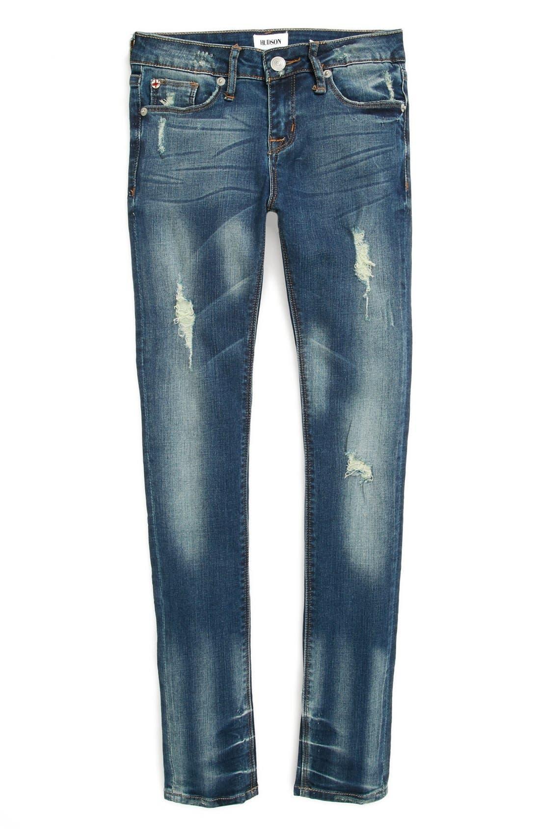 Alternate Image 1 Selected - Hudson Kids 'Dolly' Skinny Jeans (Big Girls)
