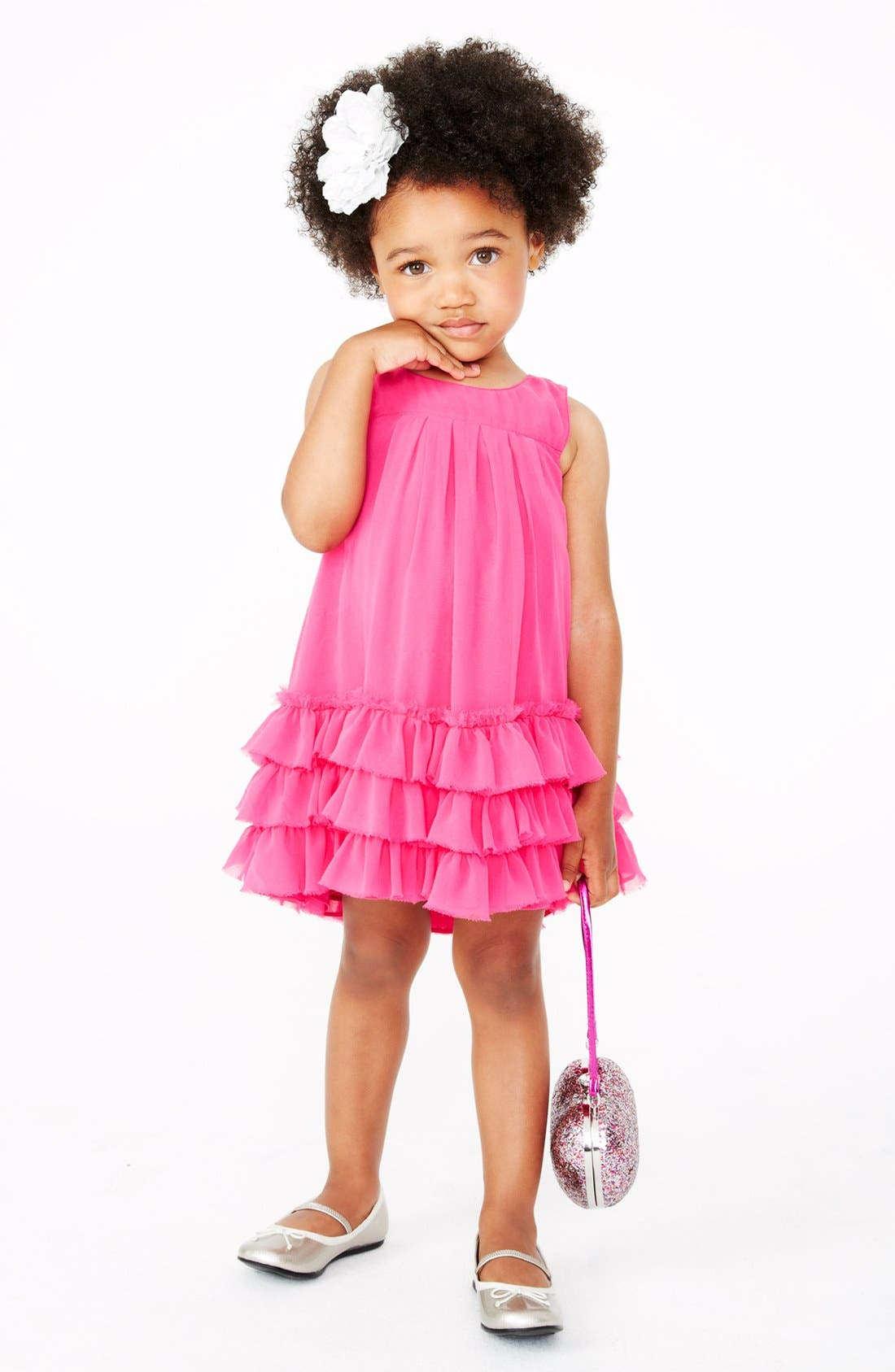 Alternate Image 1 Selected - Pippa & Julie Chiffon Dress & Accessories (Toddler Girls)