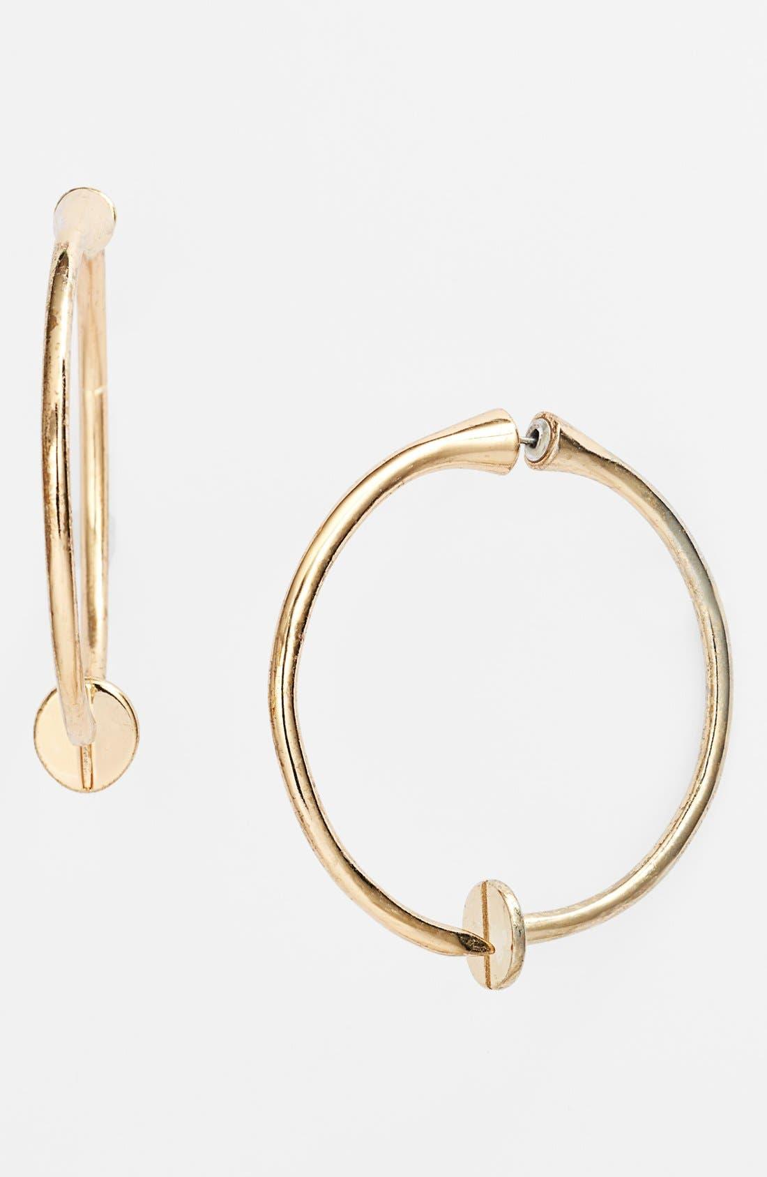 Alternate Image 1 Selected - Guinevere 'Bind' Hoop Earrings