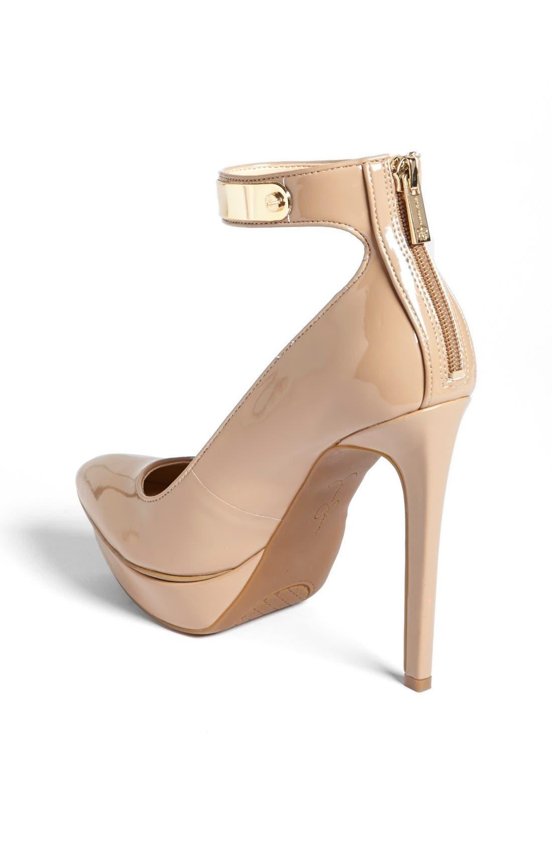 Alternate Image 2  - Jessica Simpson 'Violla' Ankle Strap Pointy Toe Pump