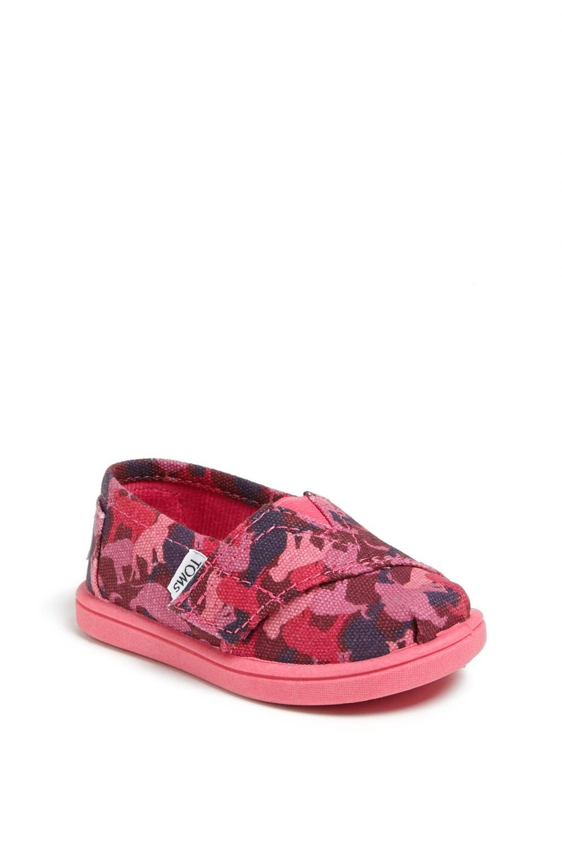Main Image - TOMS 'Classic Tiny - Animal Camo' Slip-On (Baby, Walker & Toddler)