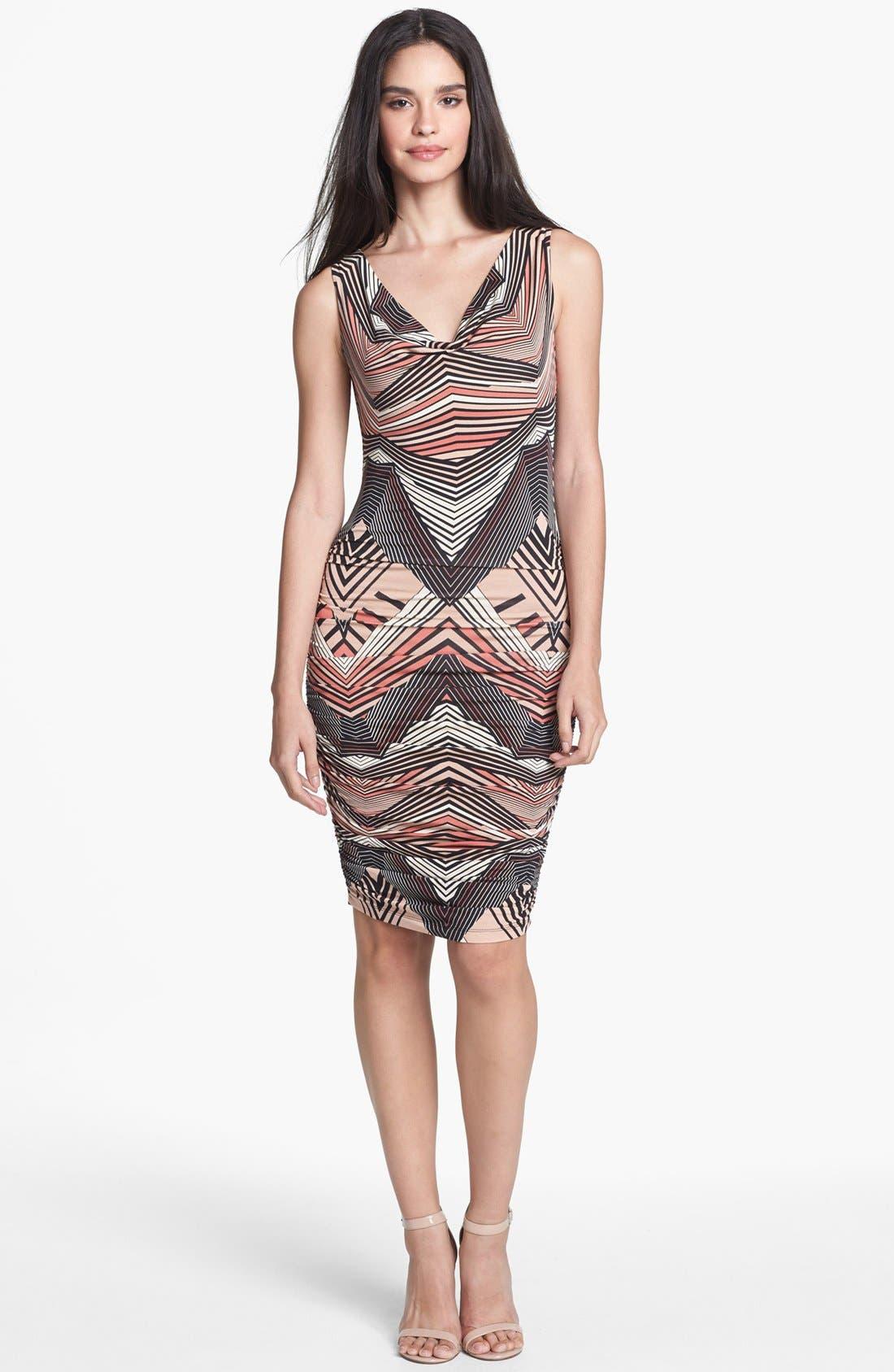 Main Image - Tart 'Suki' Print Shirred Jersey Dress