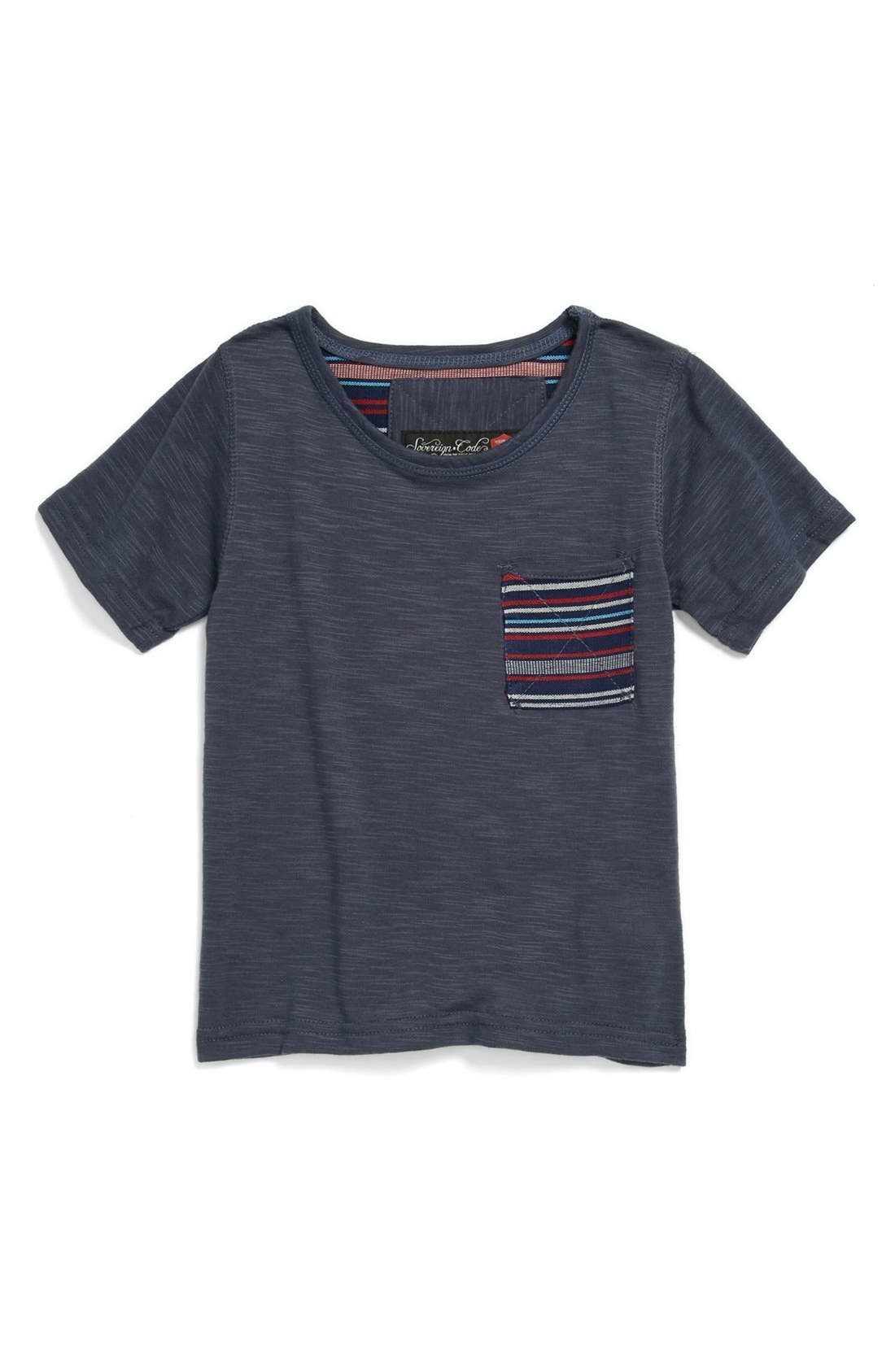 Alternate Image 1 Selected - Sovereign Code Contrast Pocket T-Shirt (Toddler Boys)