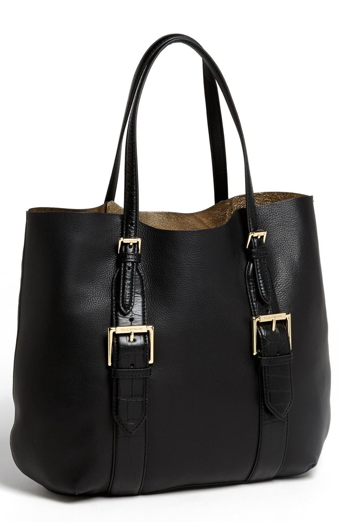 Alternate Image 1 Selected - Isaac Mizrahi New York 'Lucille' Leather Tote