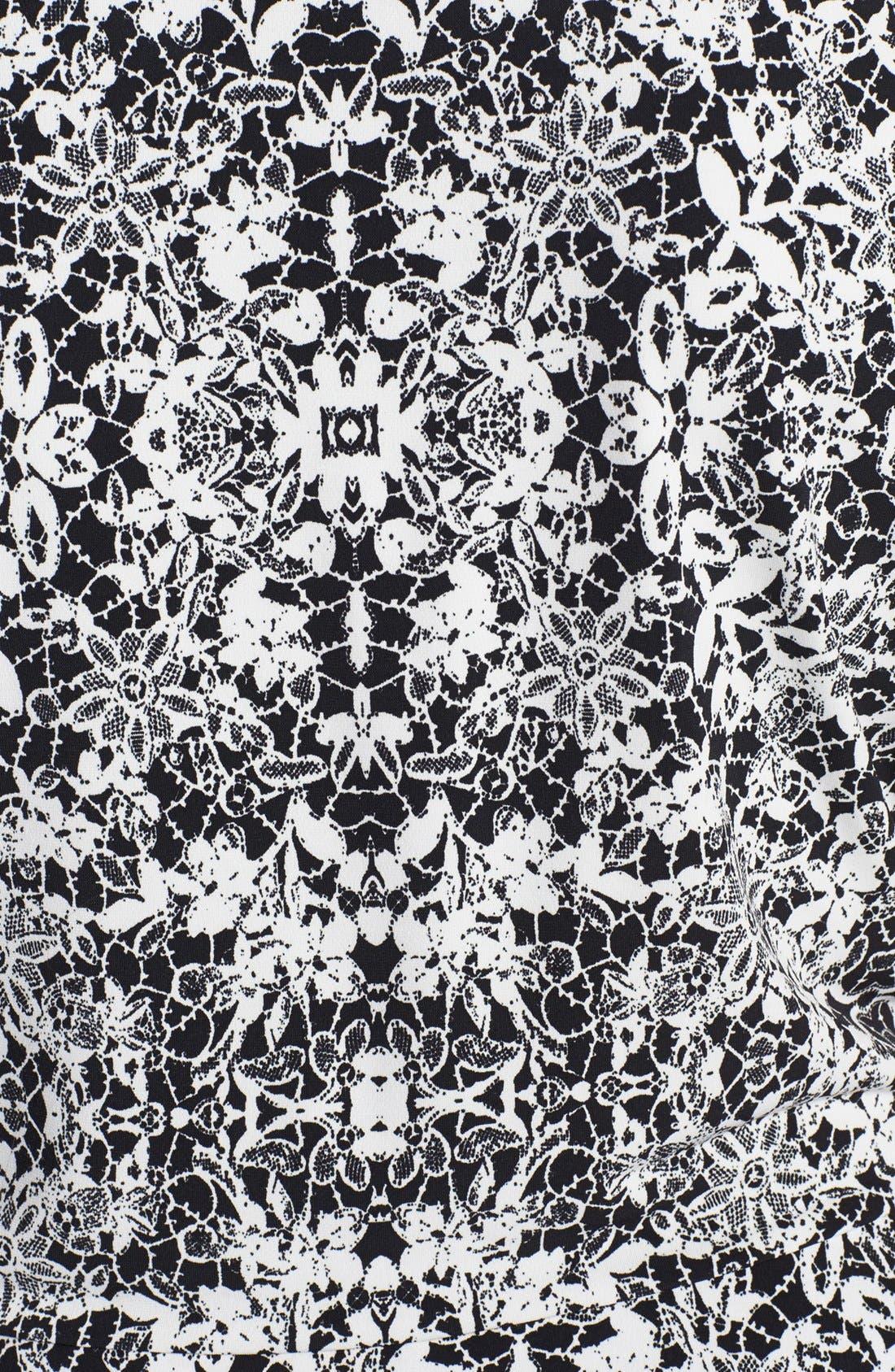 Alternate Image 3  - Vince Camuto Lace Print Peplum Top (Plus Size)