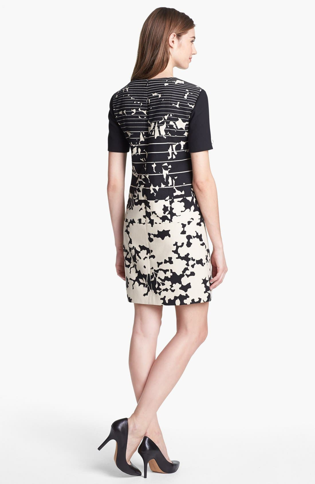 Alternate Image 2  - 4.collective Print Short Sleeve Shift Dress
