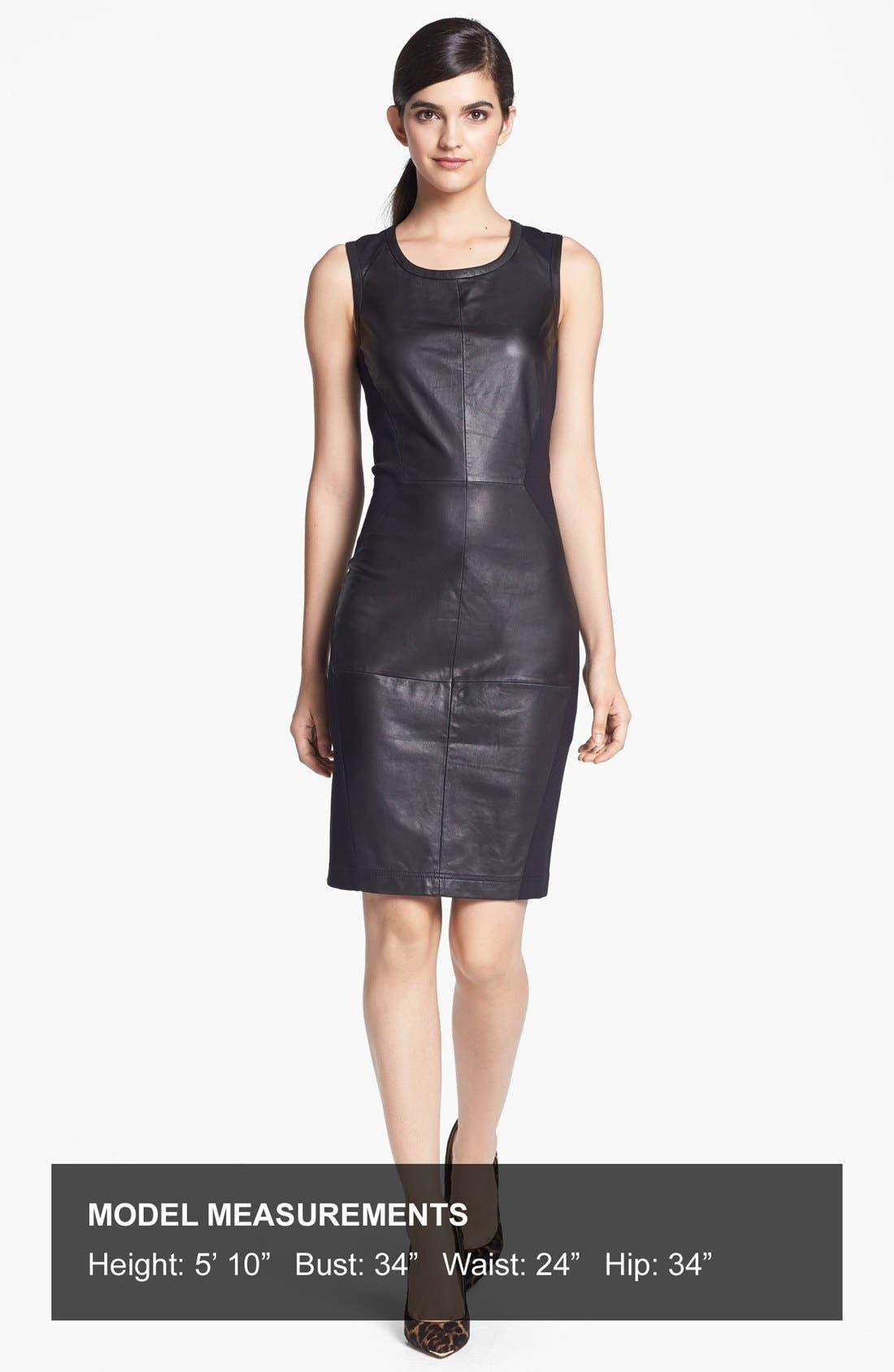Alternate Image 4  - Trouvé Leather Front Body-Con Dress