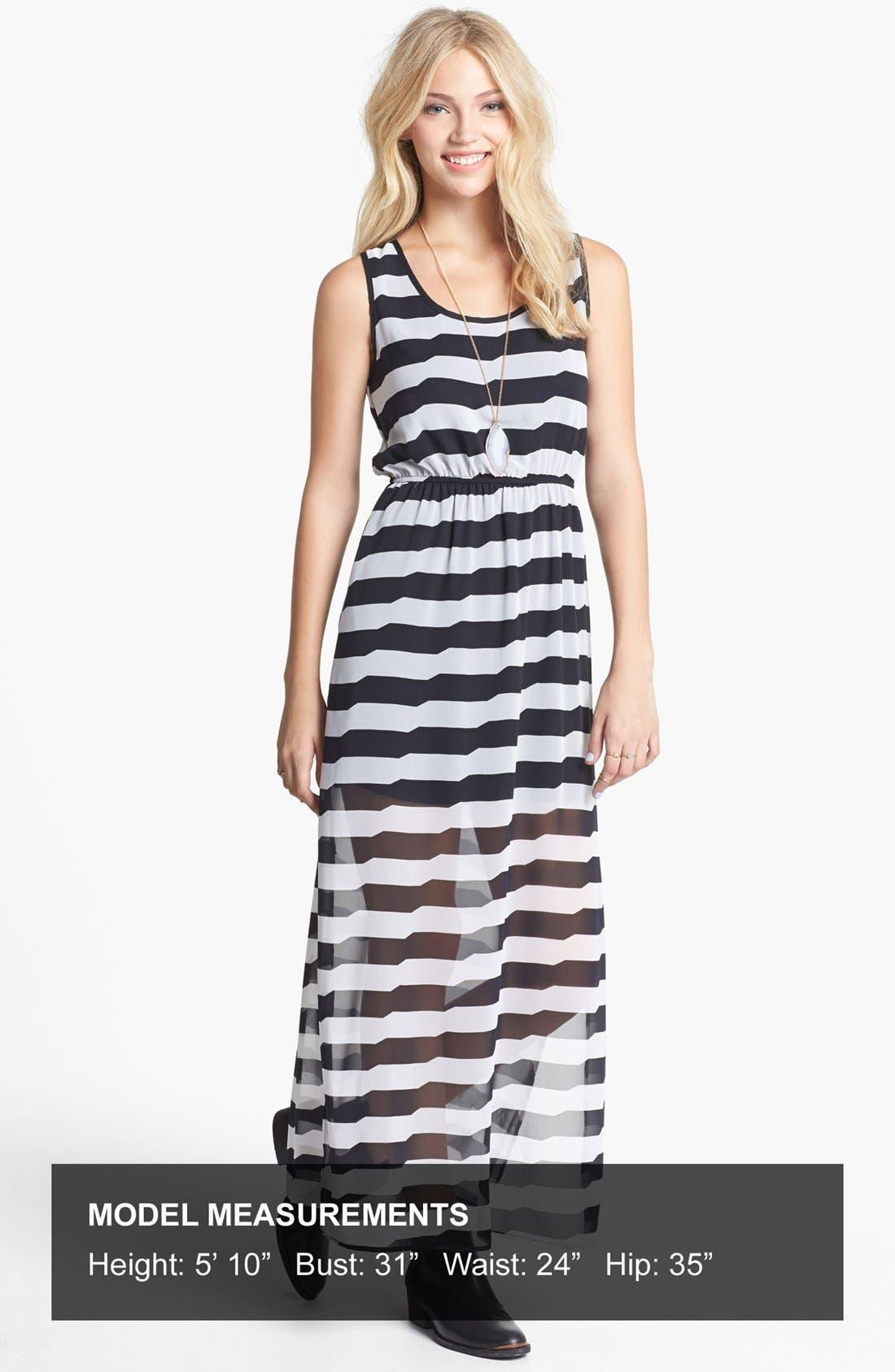 Alternate Image 4  - dee elle Racerback Print Maxi Dress (Juniors)