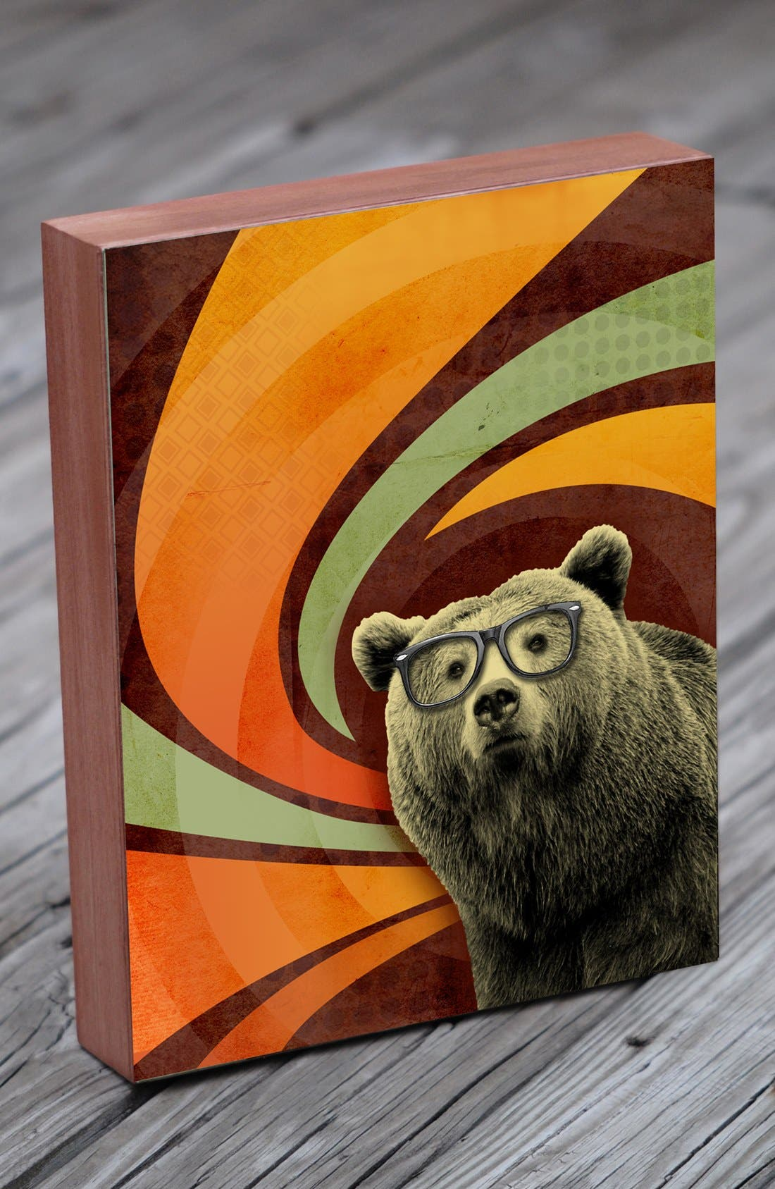 Alternate Image 1 Selected - Lucius Designs 'The Book Smart Bear' Wall Art