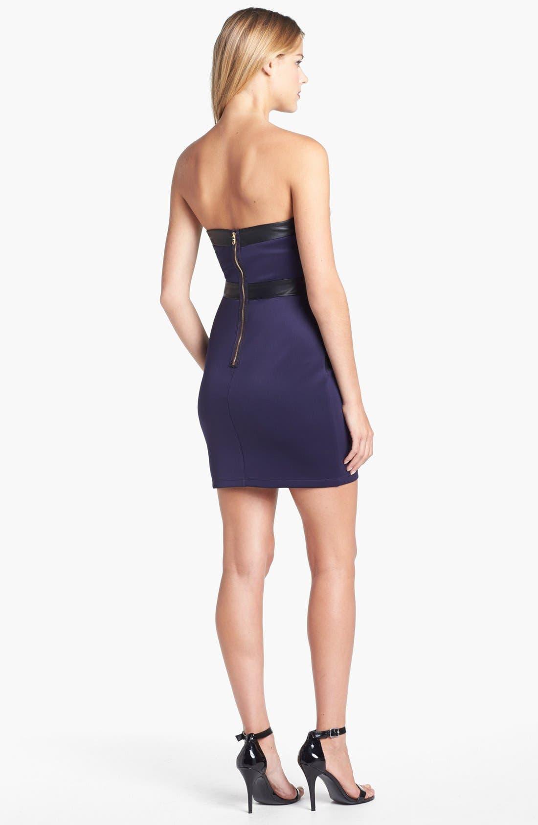 Alternate Image 3  - GUESS Mixed Media Mini Sheath Dress