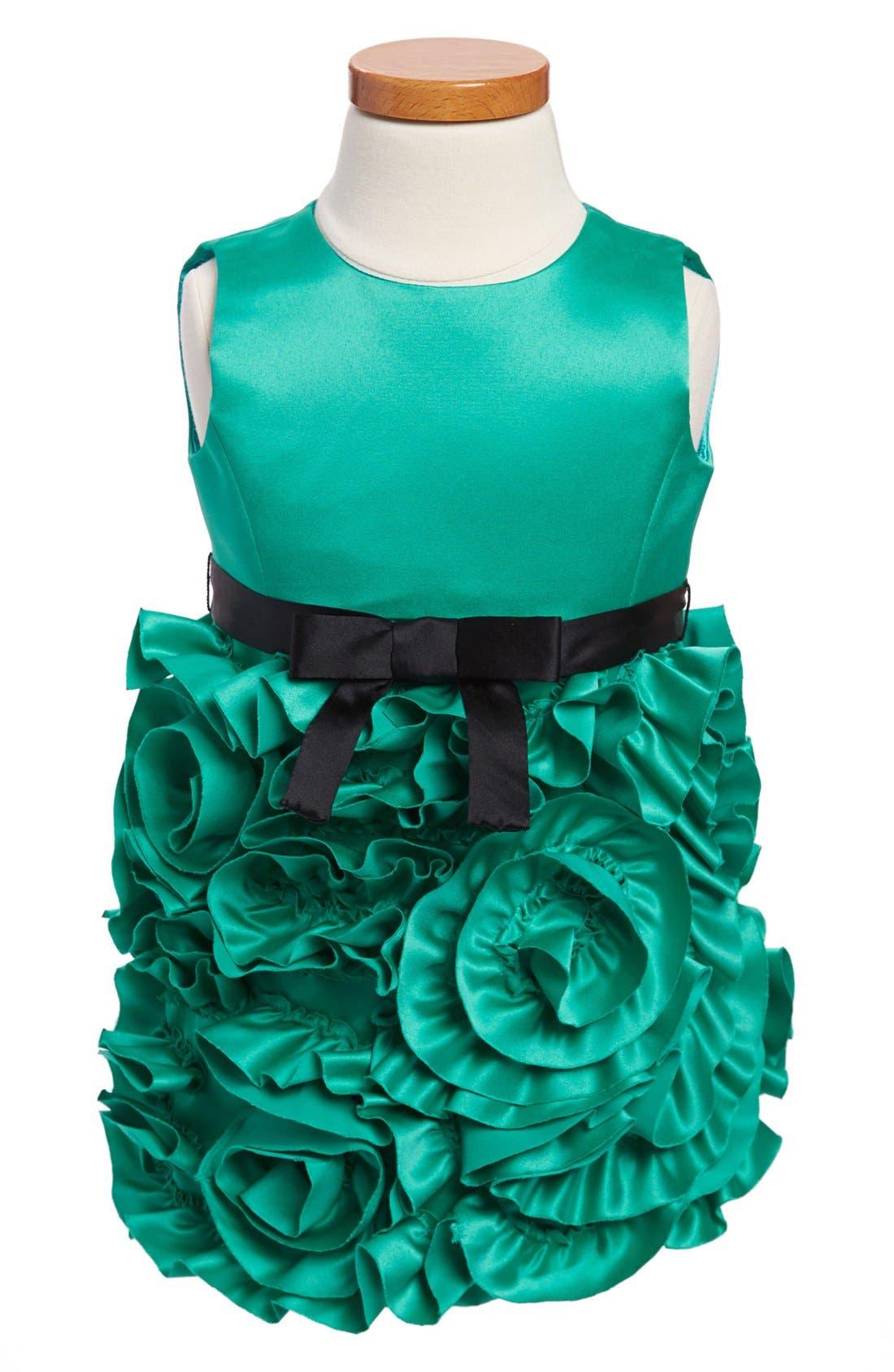 Main Image - Milly Minis Rosette Party Dress (Toddler Girls & Little Girls)