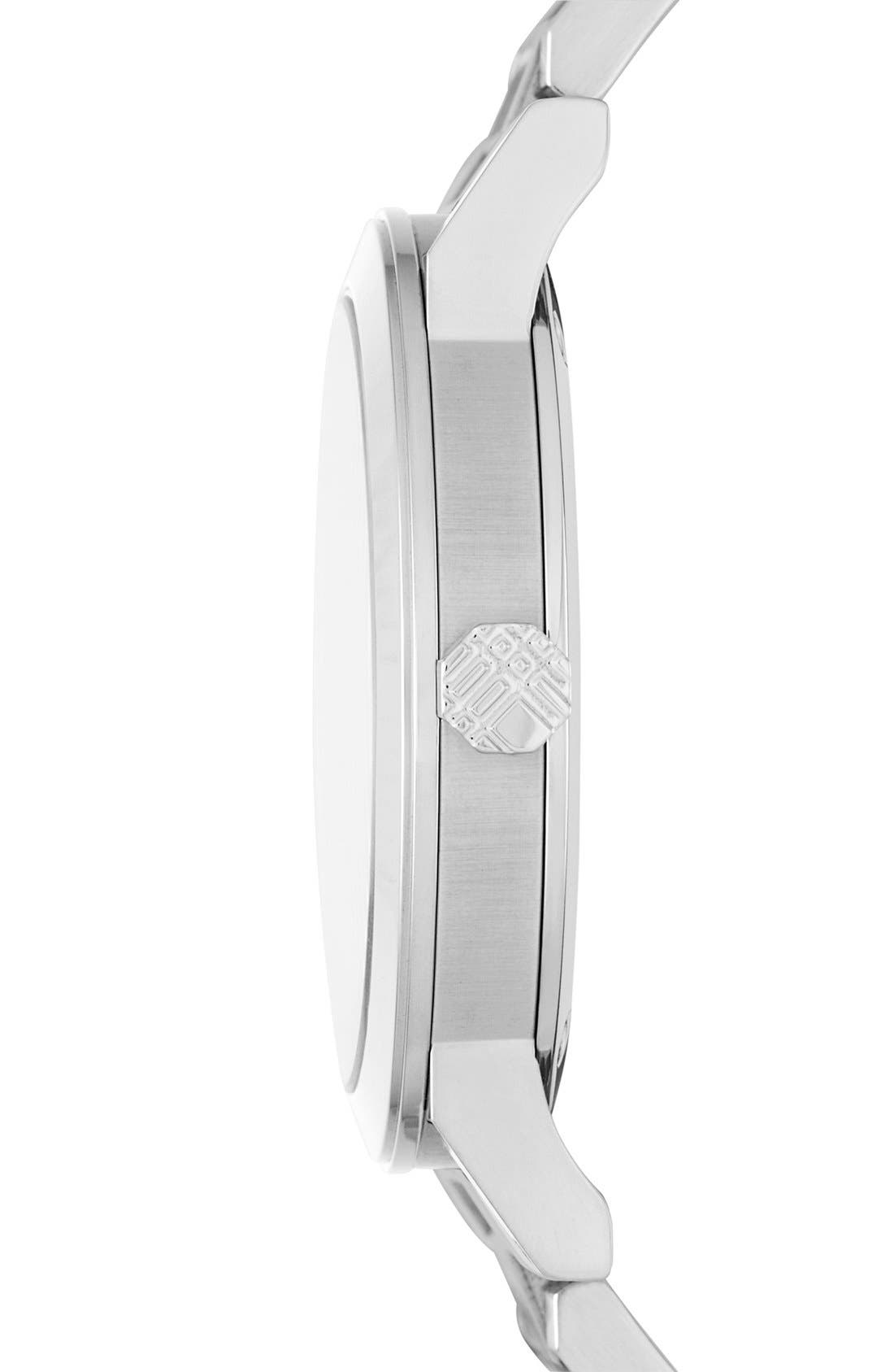Alternate Image 3  - Burberry Large Check Stamped Bracelet Watch, 38mm