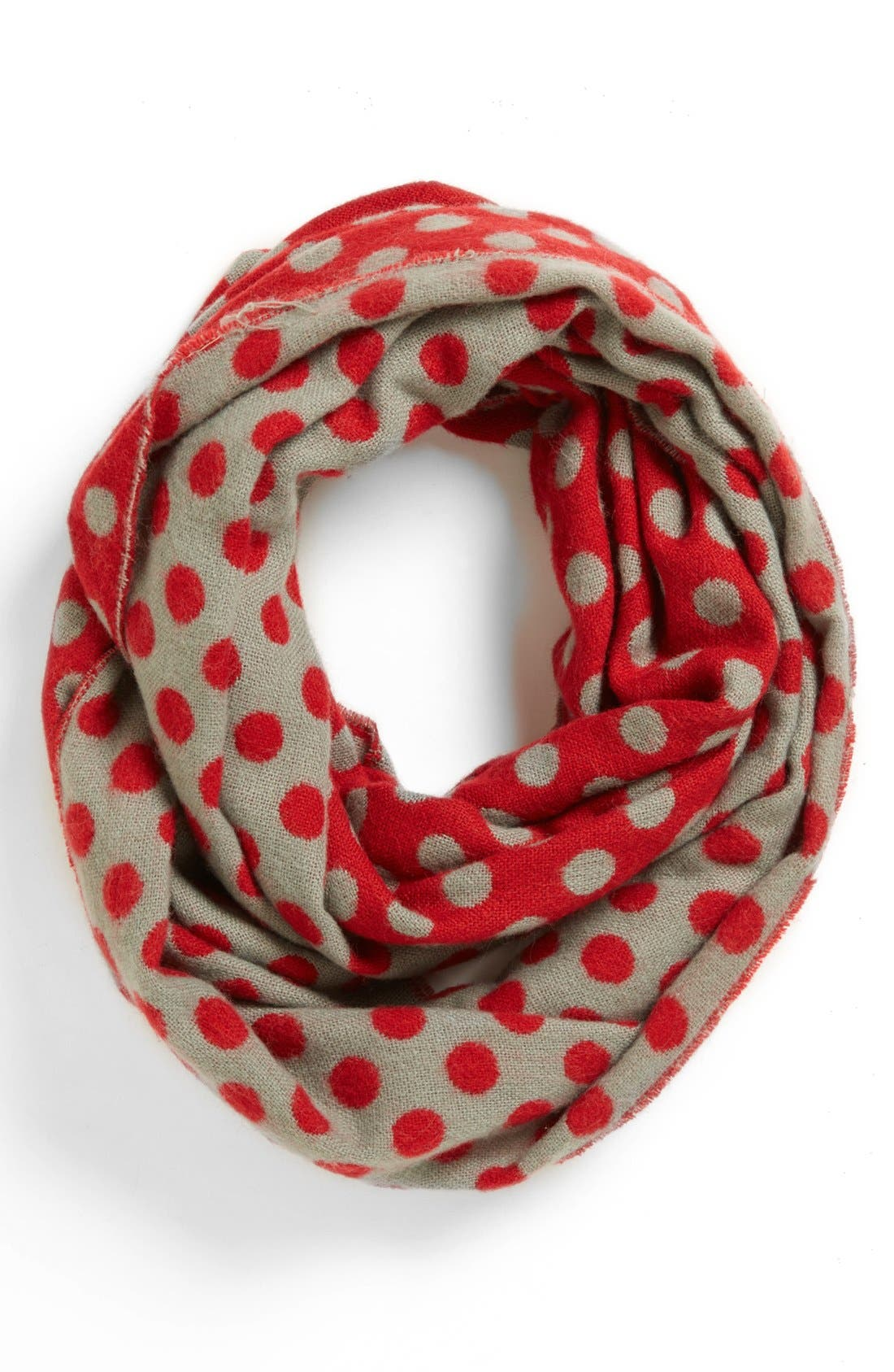 Alternate Image 1 Selected - Tildon Polka Dot Infinity Scarf