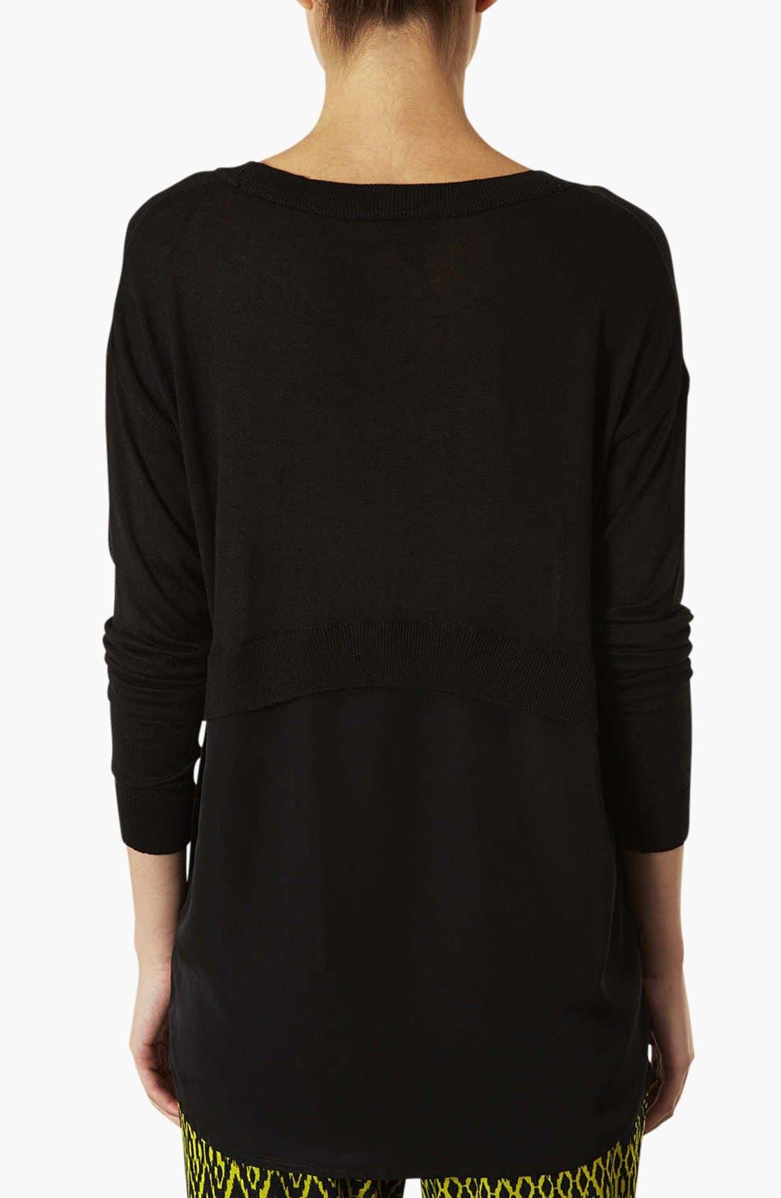 Alternate Image 2  - Topshop Crewneck Sweater