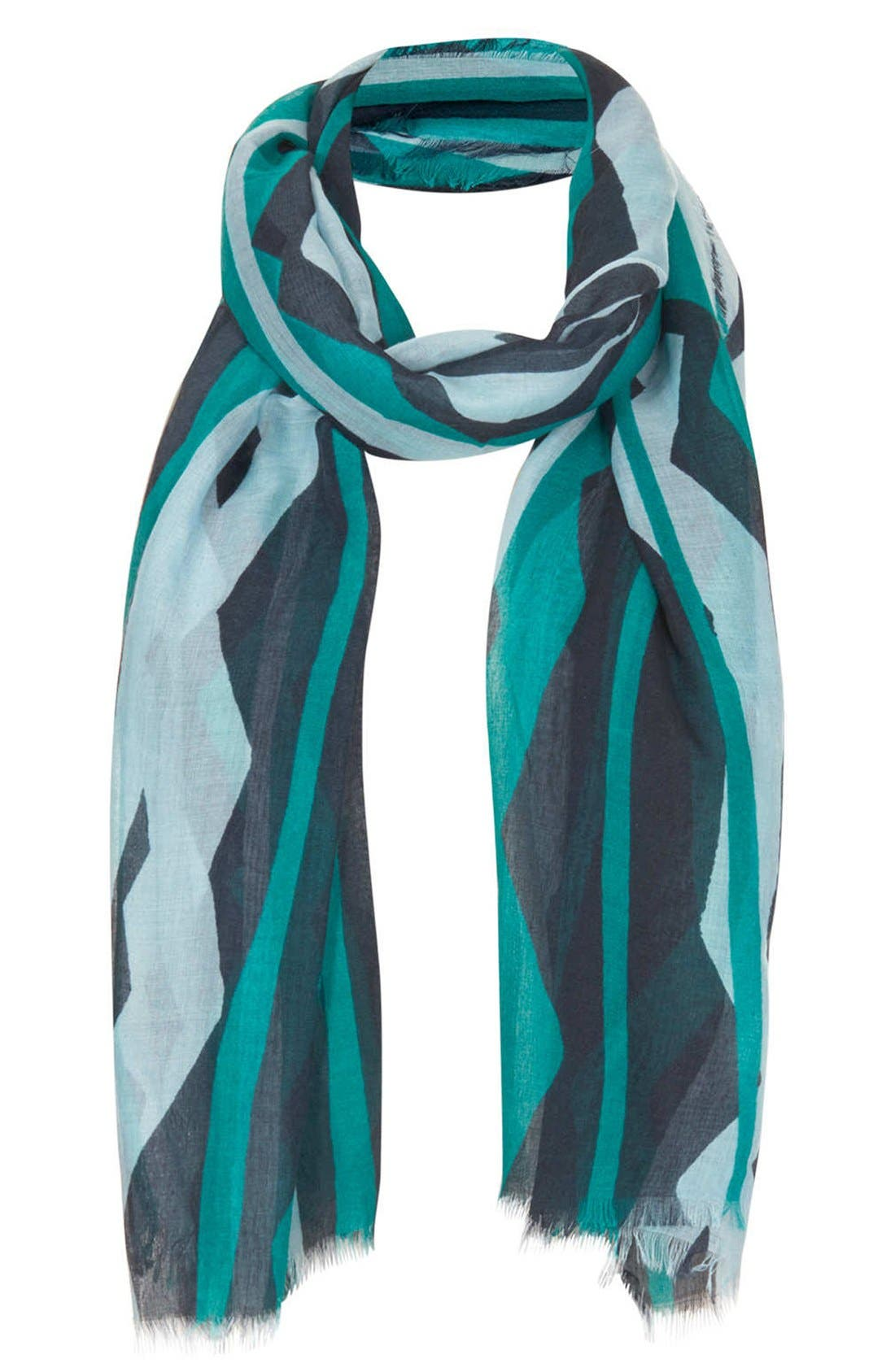 Alternate Image 1 Selected - Topshop Zigzag Print Scarf