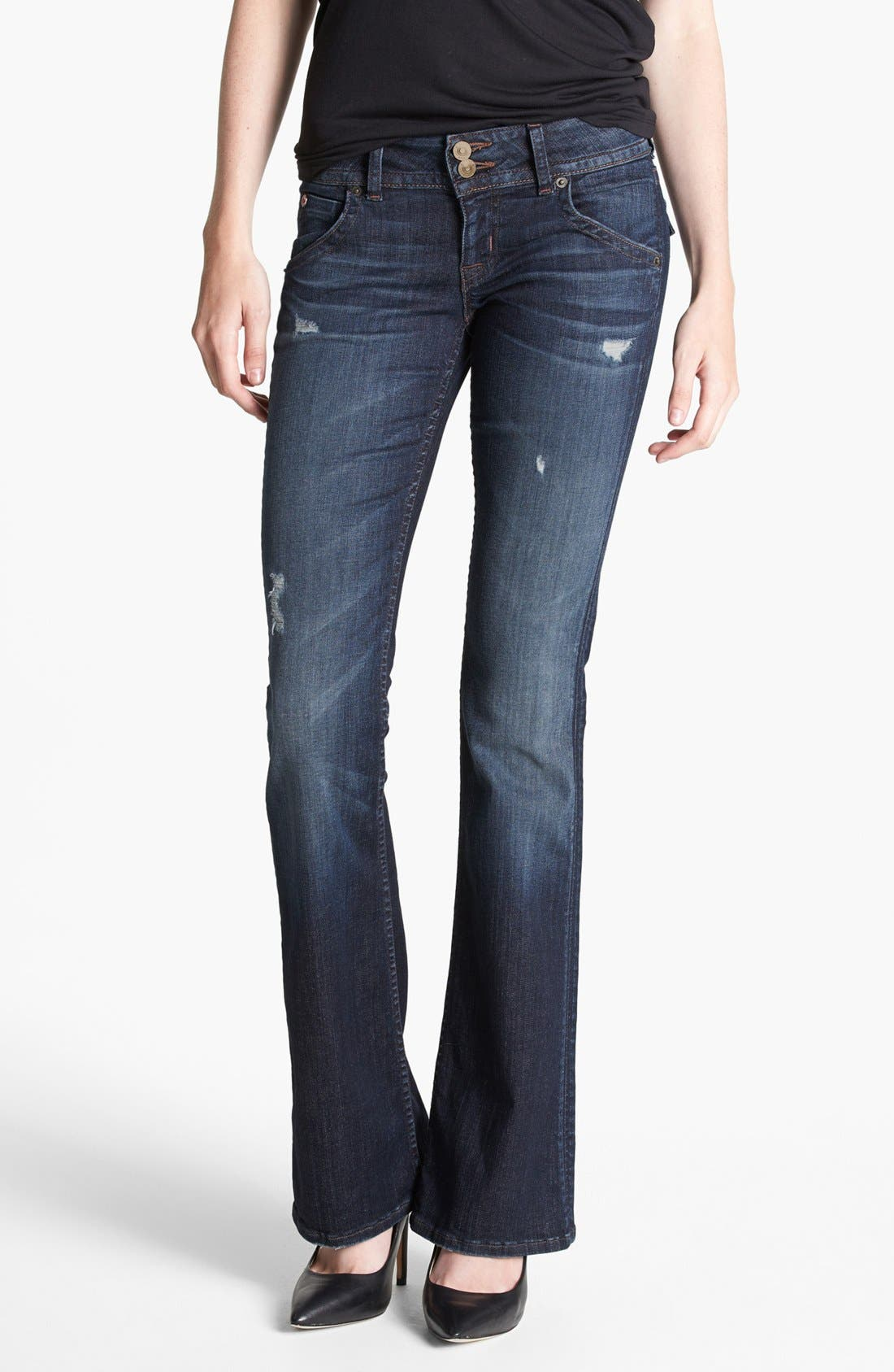 Alternate Image 1 Selected - Hudson Jeans Distressed Signature Bootcut Jeans (Escape)