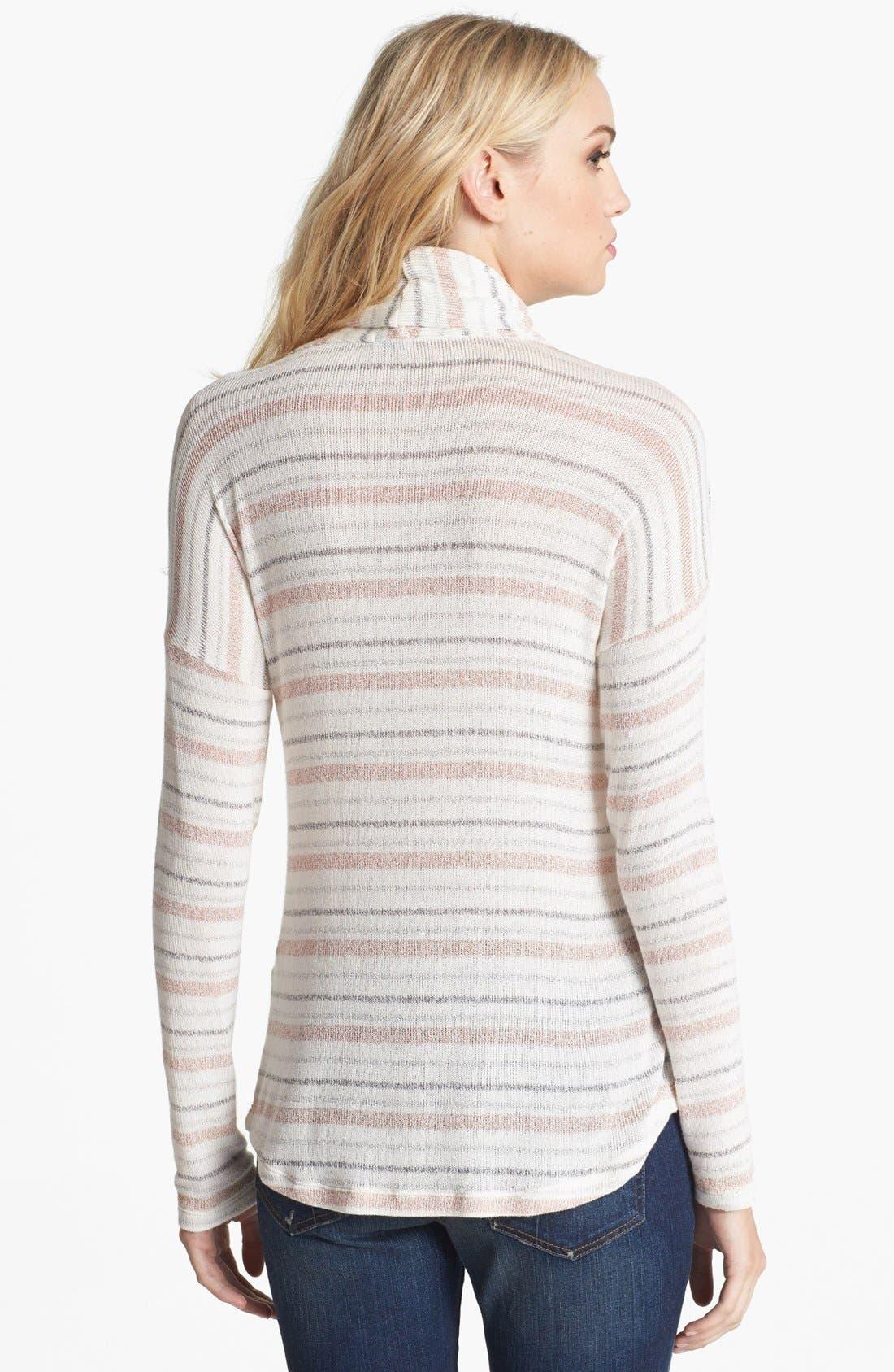 Alternate Image 2  - Splendid 'Skyline' Metallic Stripe Cowl Neck Top