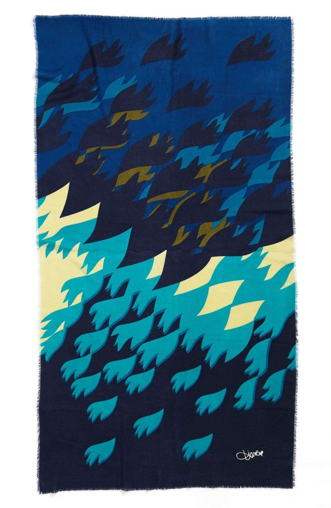 Alternate Image 2  - Diane von Furstenberg Heavy Wool Scarf