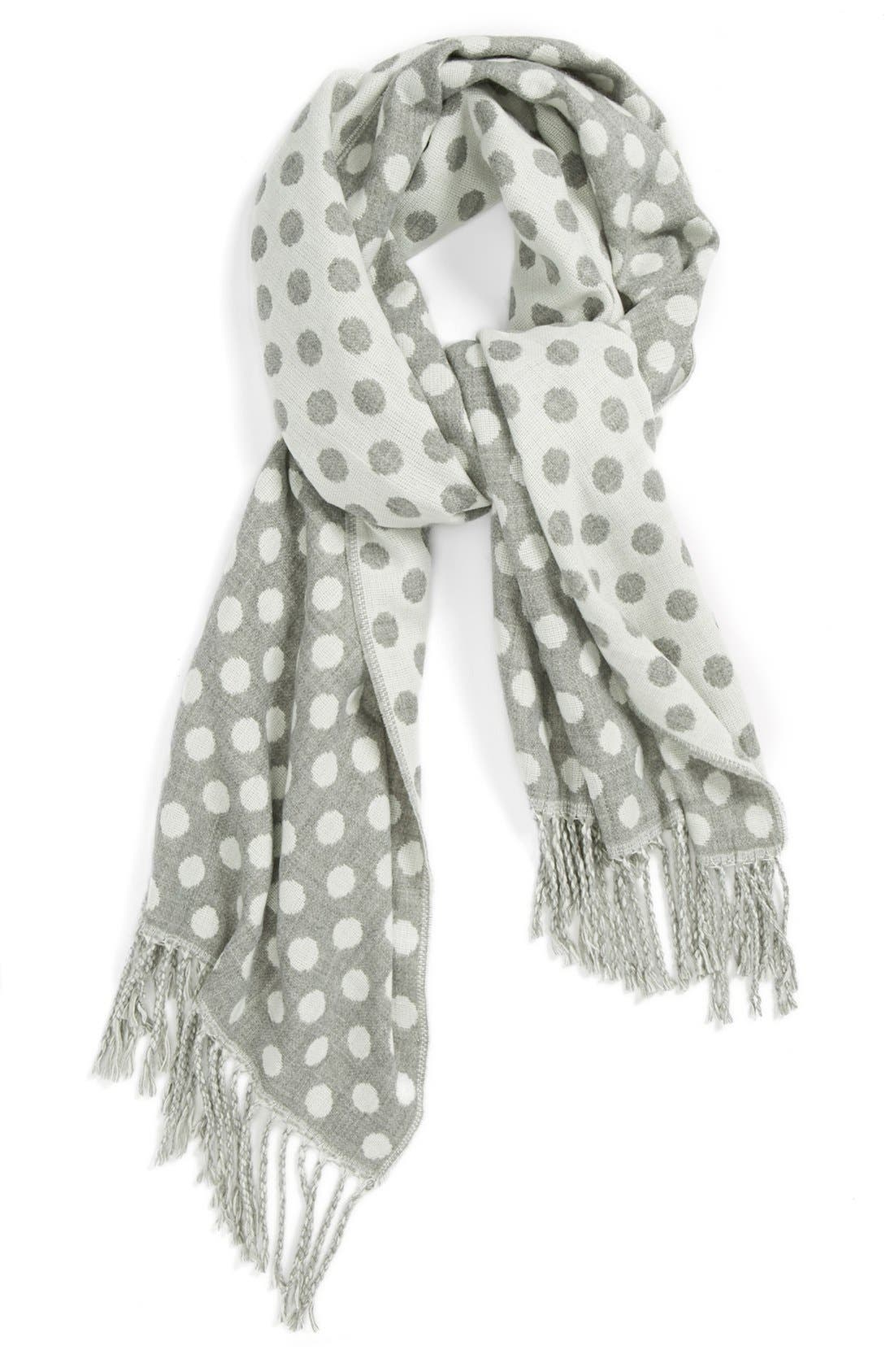 Main Image - Top Choice Polka Dot Scarf (Juniors) (Online Only)