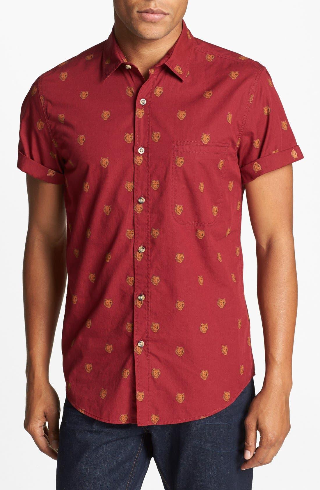 Alternate Image 1 Selected - Topman 'Bears - High Roller' Shirt