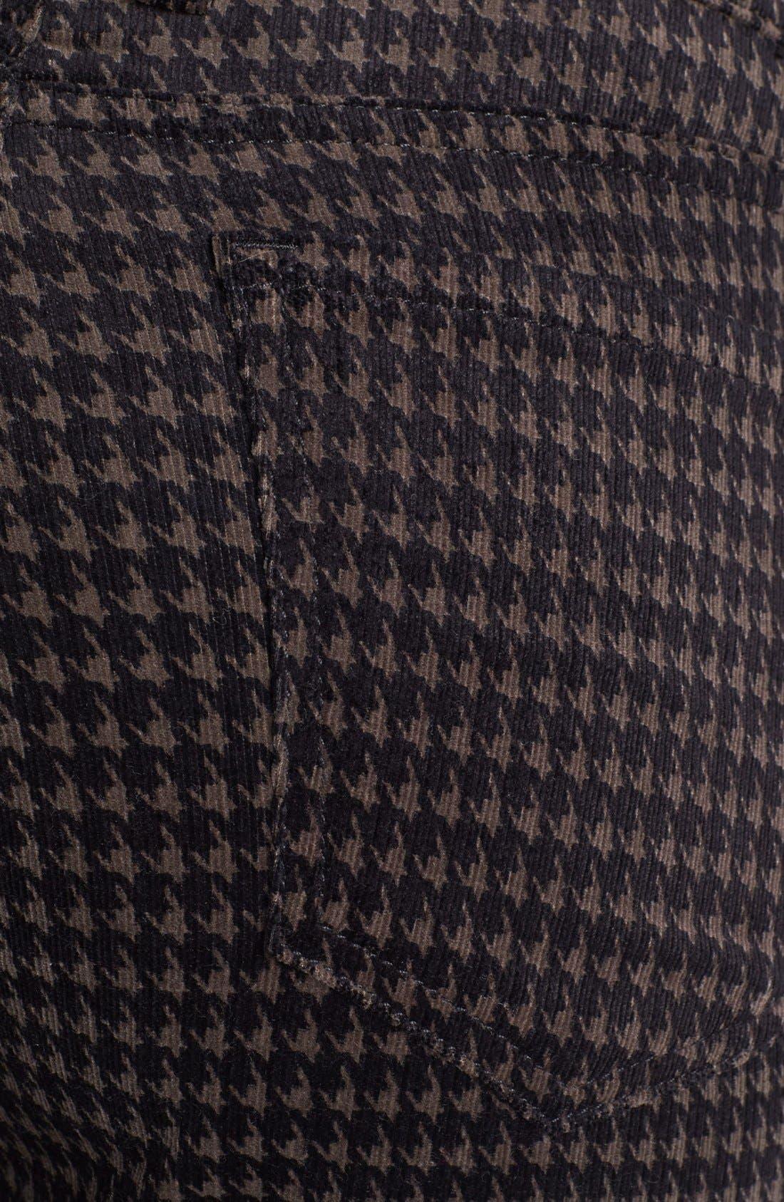 Alternate Image 3  - KUT from the Kloth 'Mia' Print Skinny Corduroy Pants (Amelia Grey)