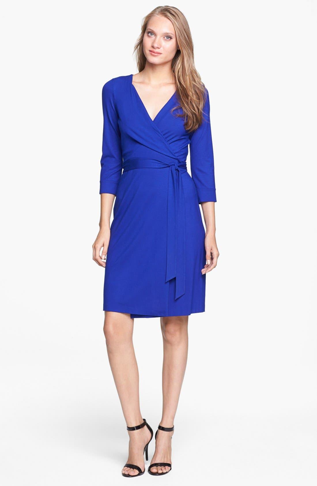 Alternate Image 1 Selected - Diane von Furstenberg 'New Julian 2' Jersey Wrap Minidress