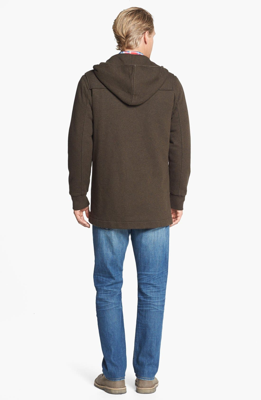 Alternate Image 2  - Grayers Toggle Fleece Jacket & AG Tailored Fit Straight Leg Jeans