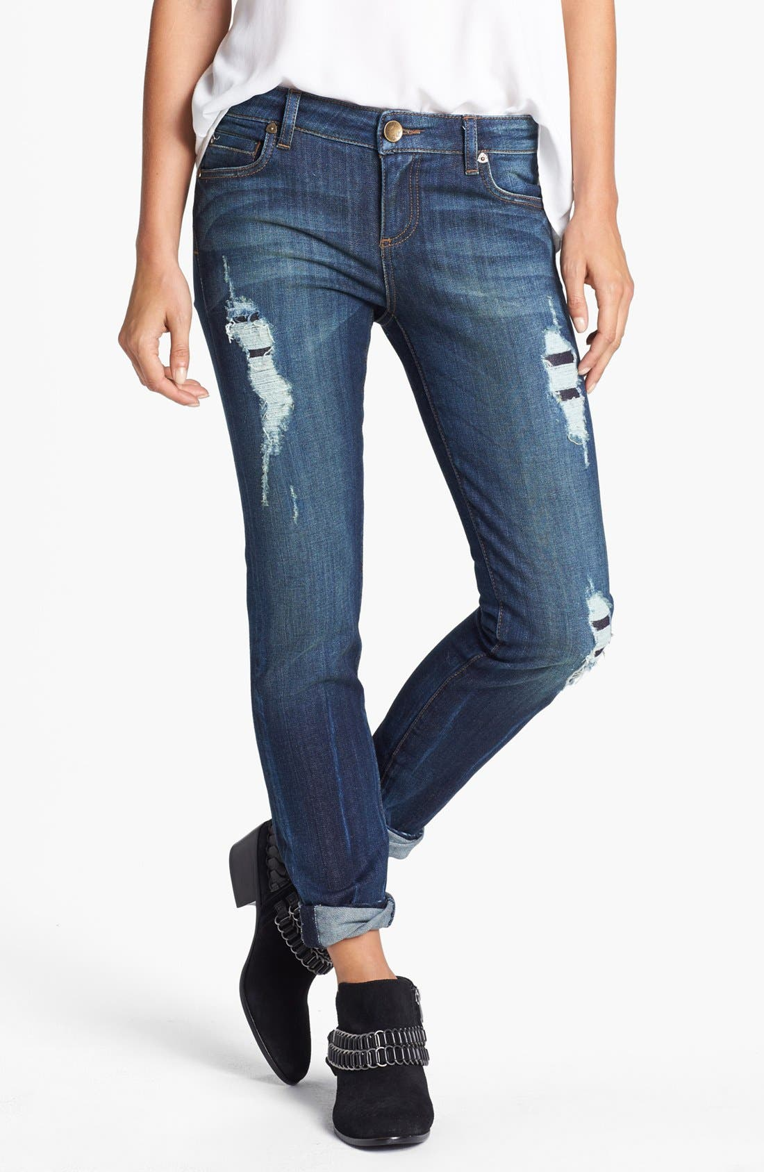 Alternate Image 1 Selected - KUT from the Kloth 'Mia' Destructed Skinny Jeans (Admissible)