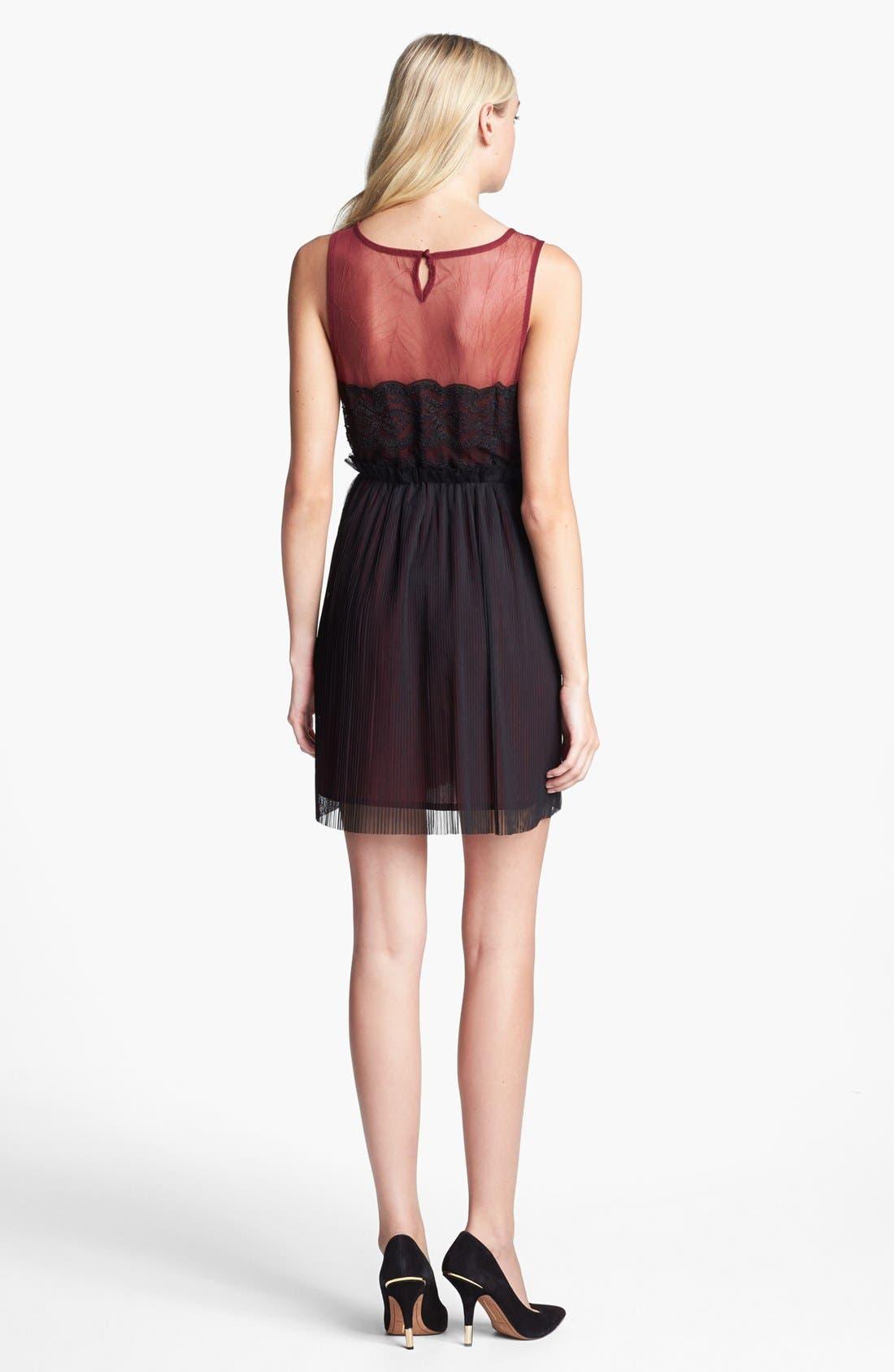Alternate Image 2  - Black Swan Lace & Chiffon Dress