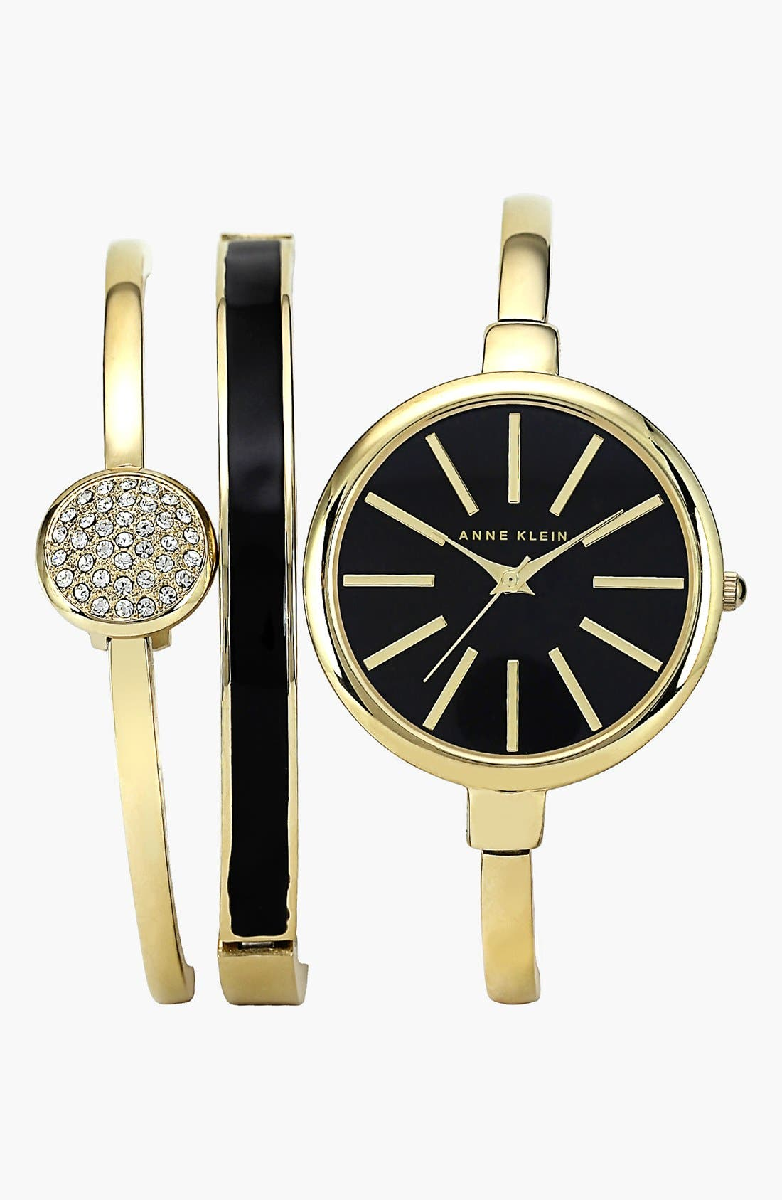 Alternate Image 1 Selected - Anne Klein Boxed Bracelet & Bangle Watch Set, 32mm ($165 Value)