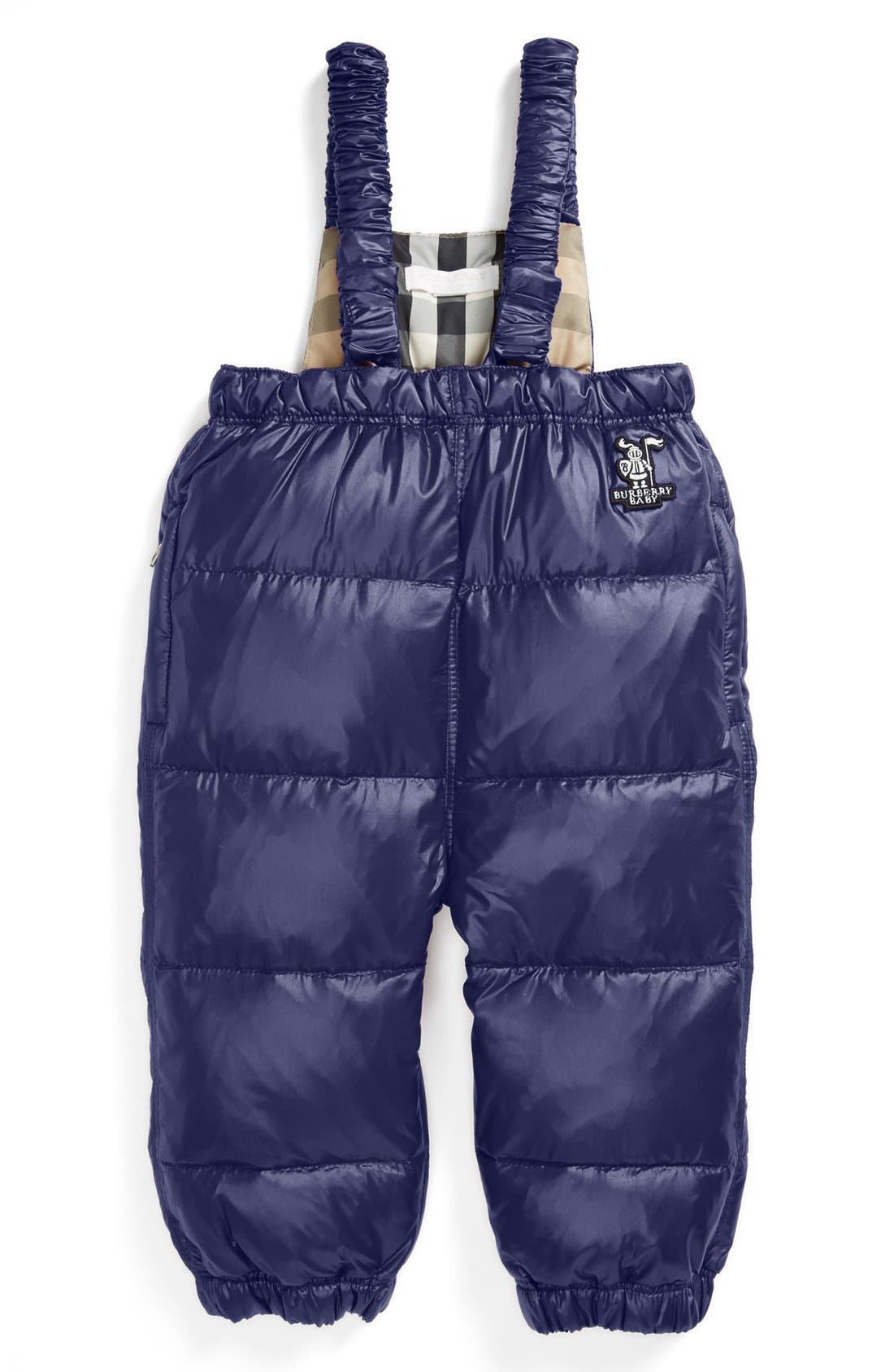 Alternate Image 1 Selected - Burberry Down Snow Pants (Baby)