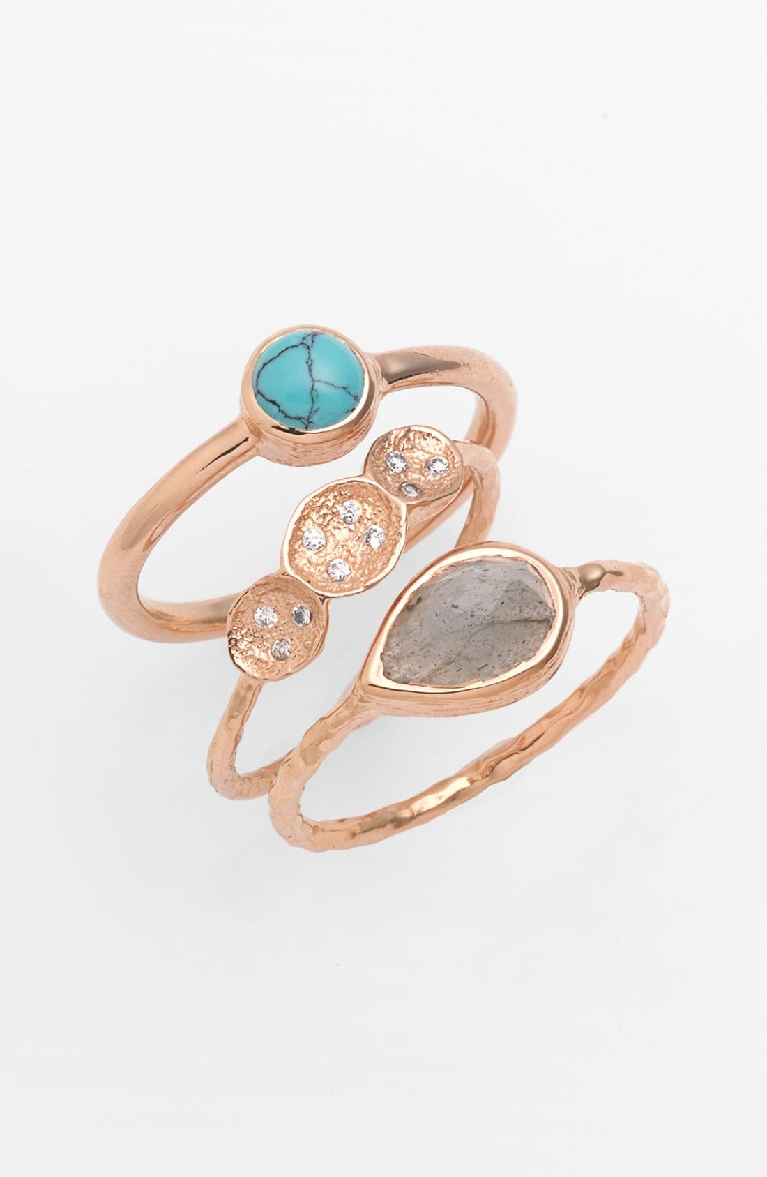 Main Image - Melinda Maria 'Michelle' Pod Stackable Rings (Set of 3)