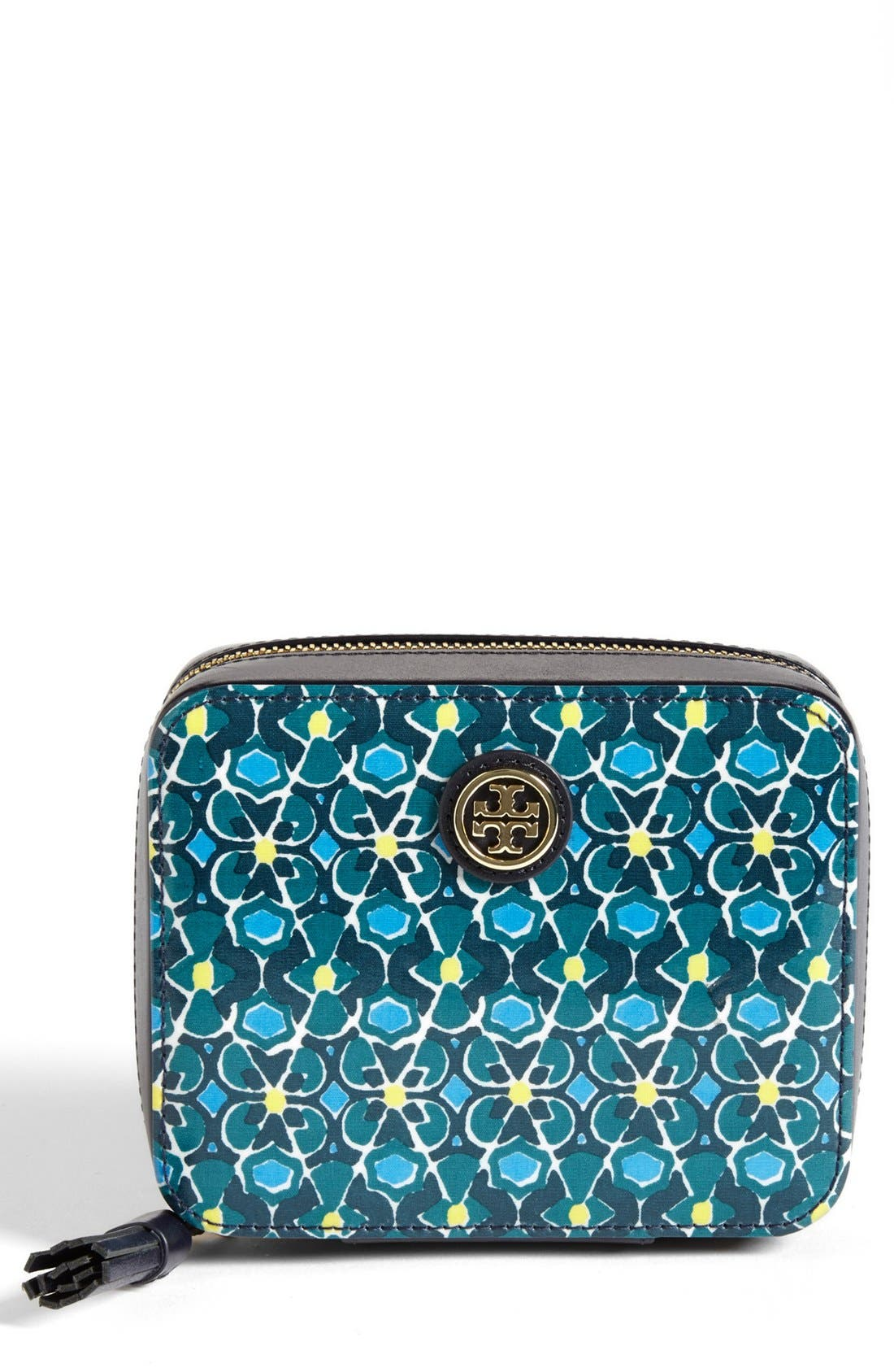 Alternate Image 1 Selected - Tory Burch Zip Around Jewelry Case