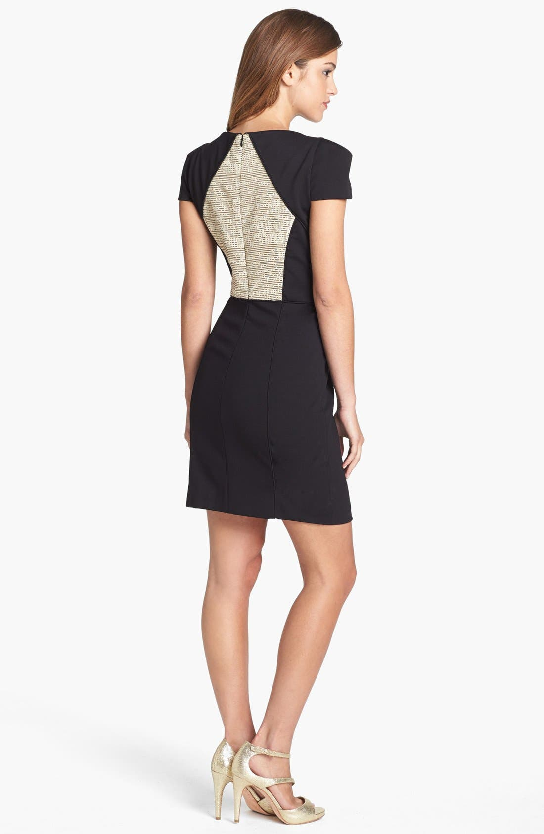 Alternate Image 2  - 4.collective Metallic Panel Knit Sheath Dress