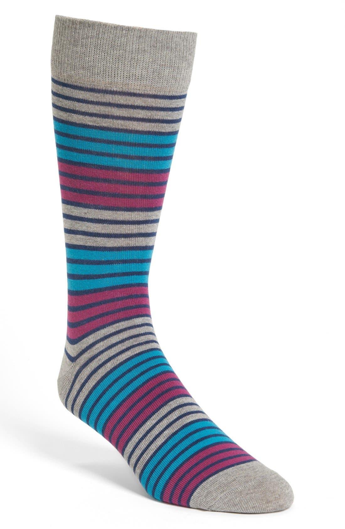 Alternate Image 1 Selected - Pact Triple Stripe Socks