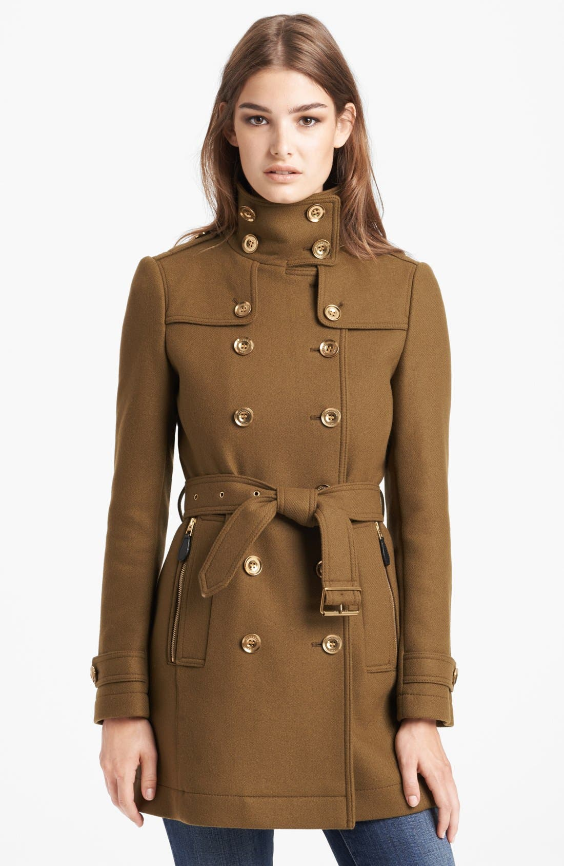 Alternate Image 1 Selected - Burberry Brit 'Daylesmoore' Wool Blend Trench Coat