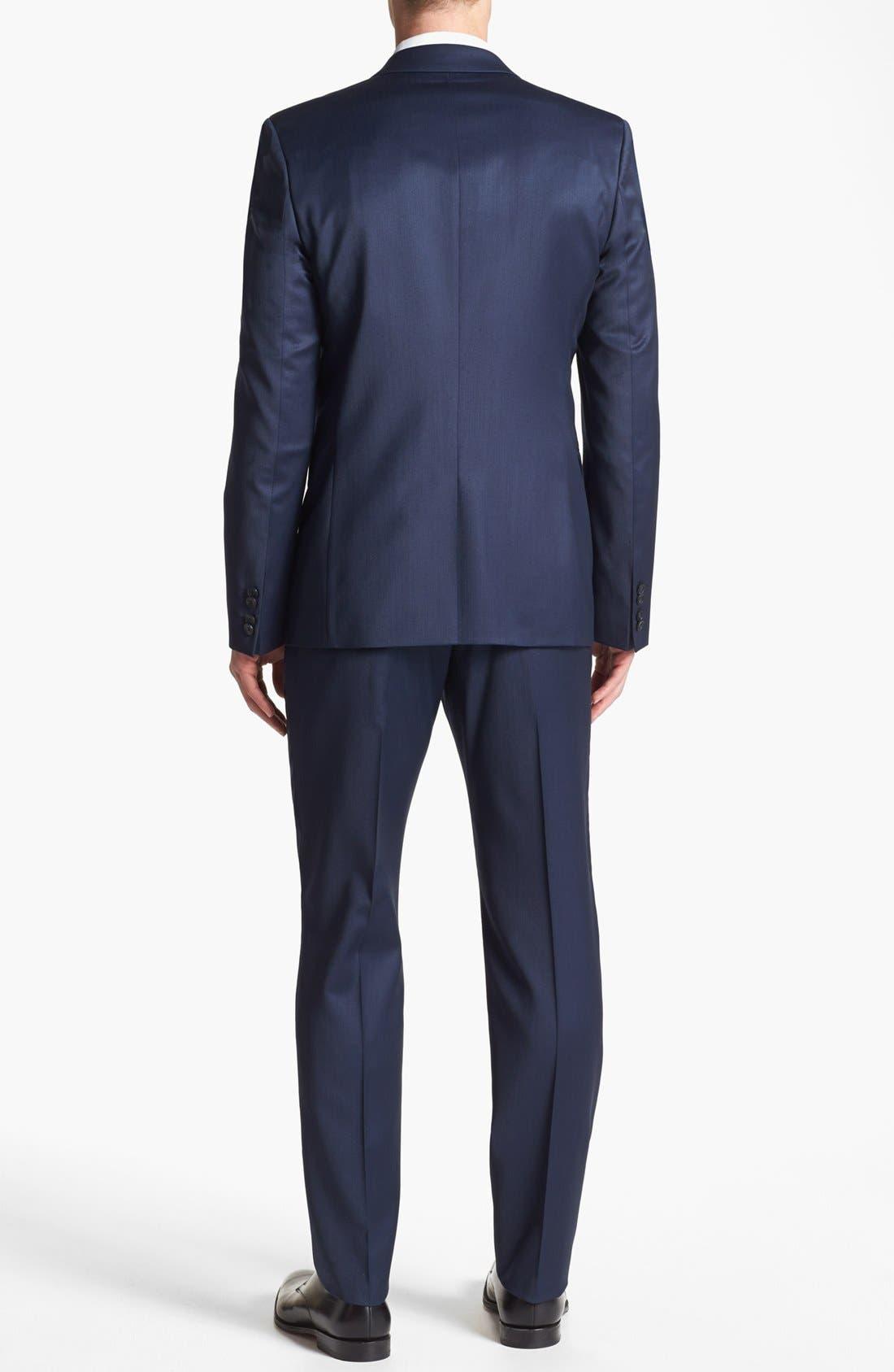 Alternate Image 2  - HUGO 'Aeron/Hamen' Trim Fit Wool Blend Suit