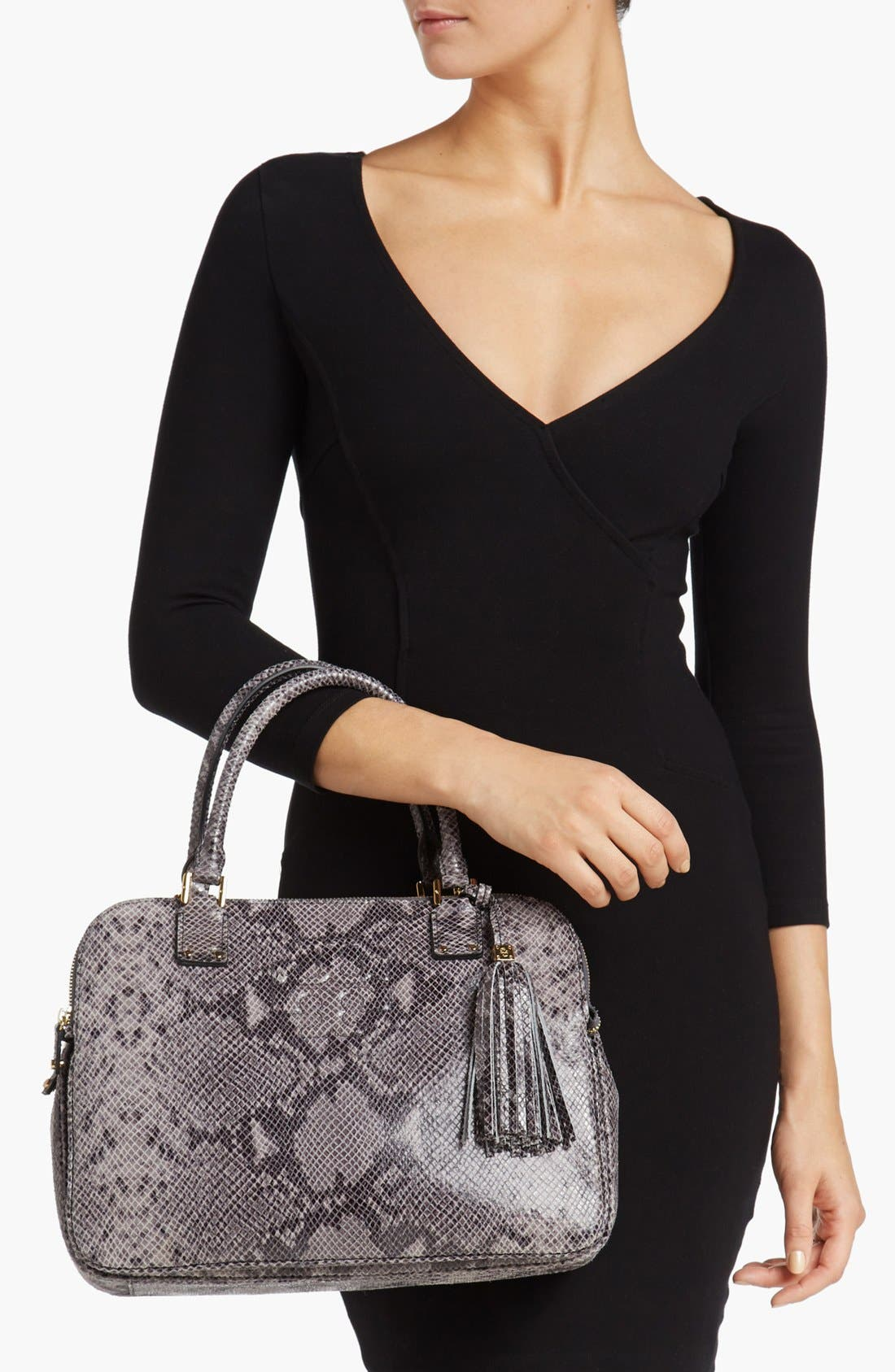 Alternate Image 2  - Tory Burch 'Thea' Snake Print Satchel, Medium