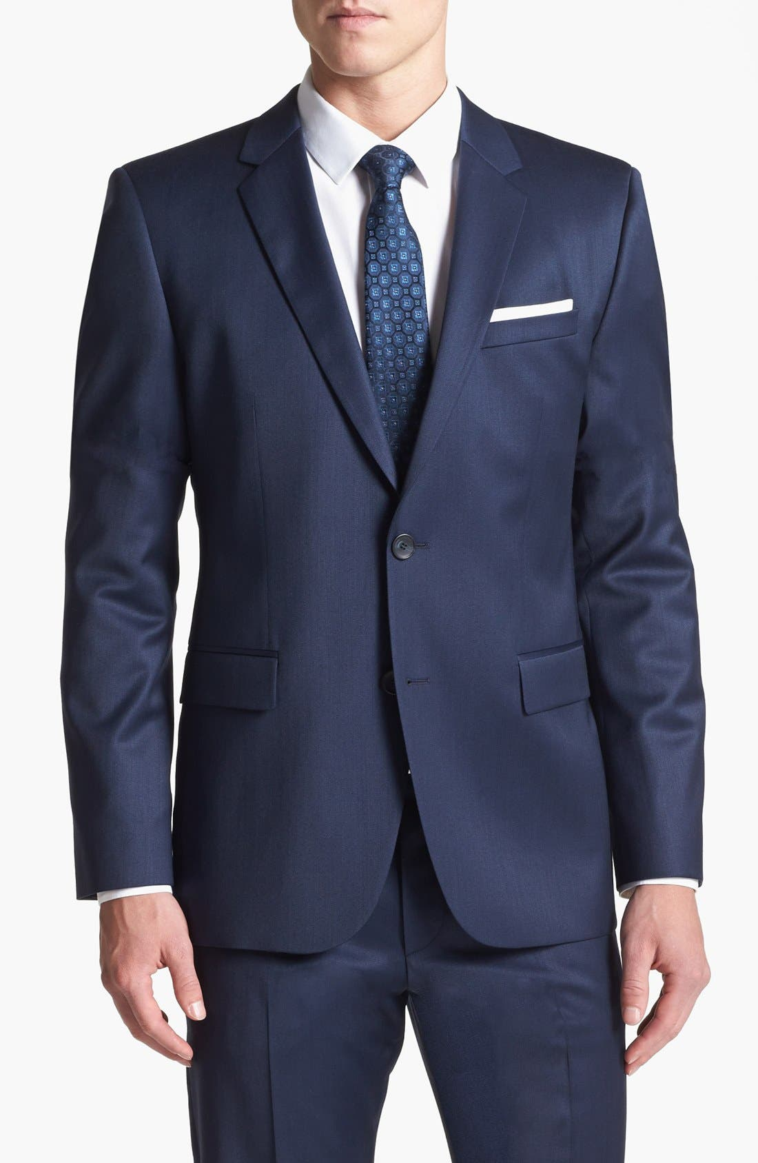 Alternate Image 3  - HUGO 'Aeron/Hamen' Trim Fit Wool Blend Suit
