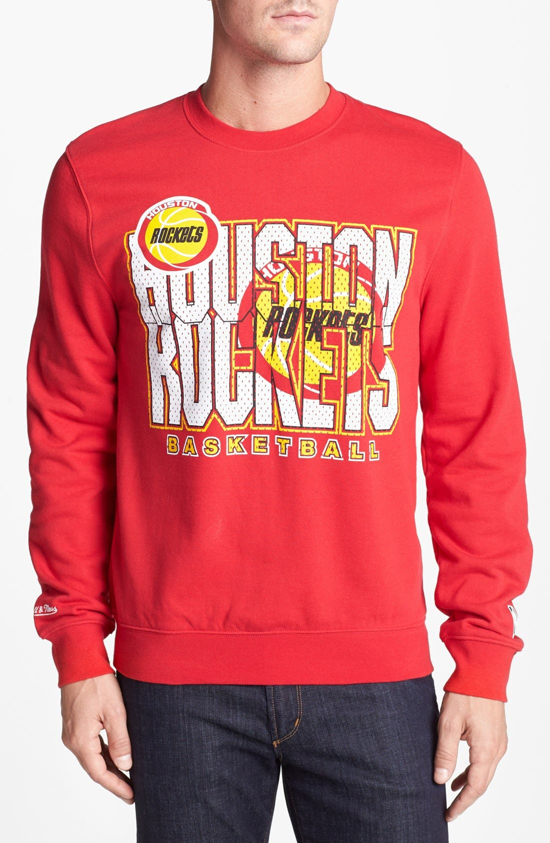 Main Image - Mitchell & Ness 'Houston Rockets' Sweatshirt