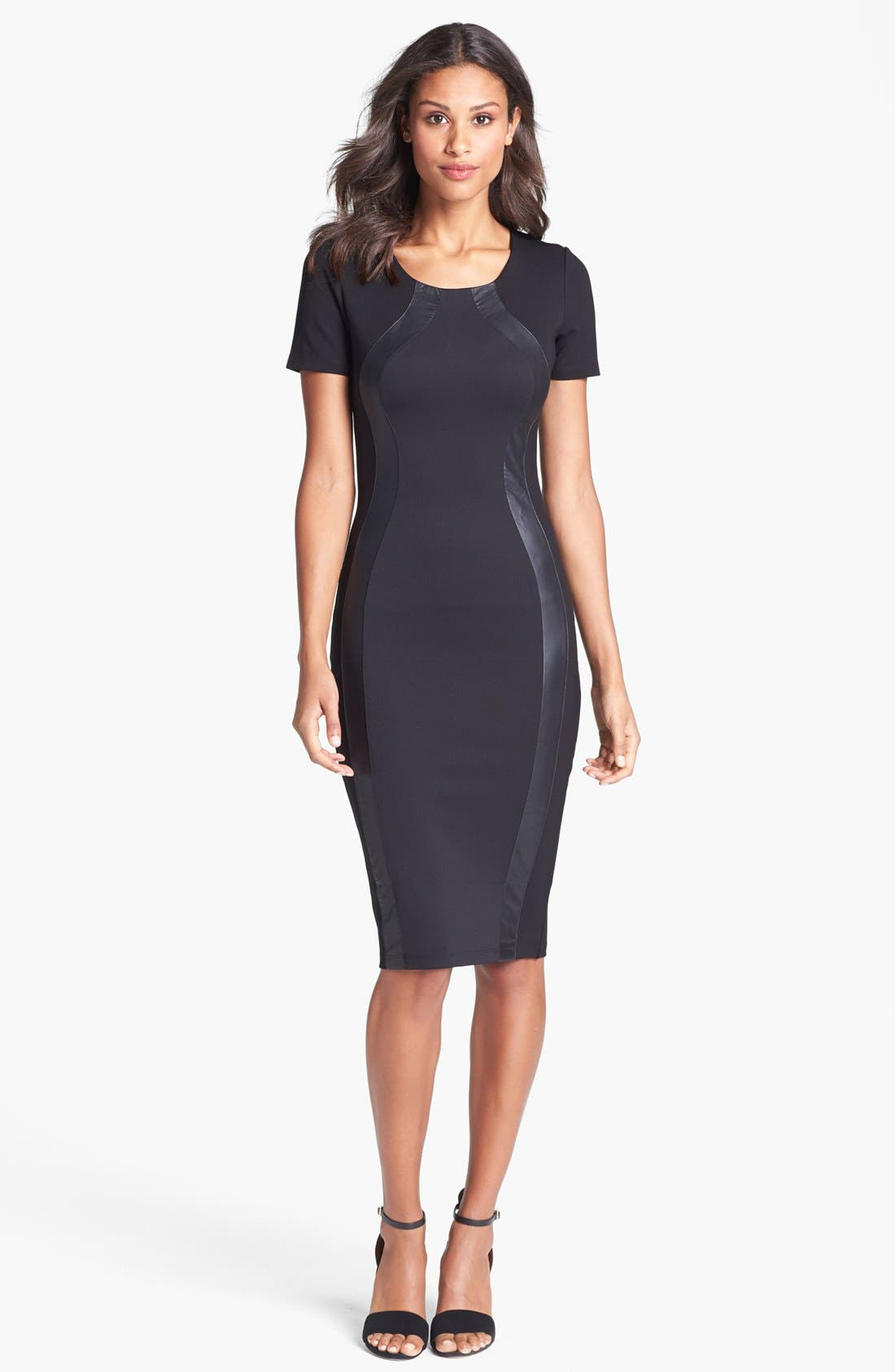 Main Image - Felicity & Coco Faux Leather Silhouette Body-Con Dress (Nordstrom Exclusive)