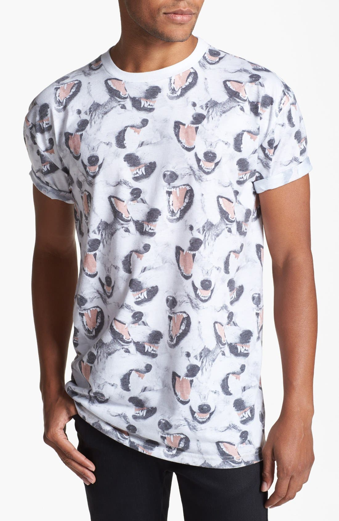 Alternate Image 1 Selected - Topman Canine Print T-Shirt