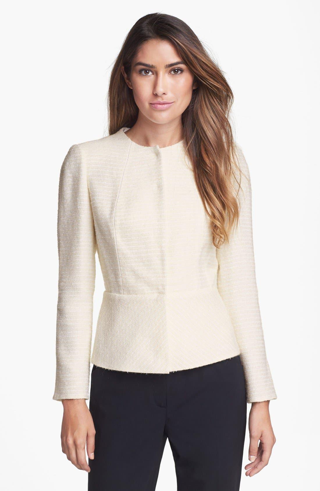 Alternate Image 1  - Lafayette 148 New York 'Donatella' Tweed Jacket