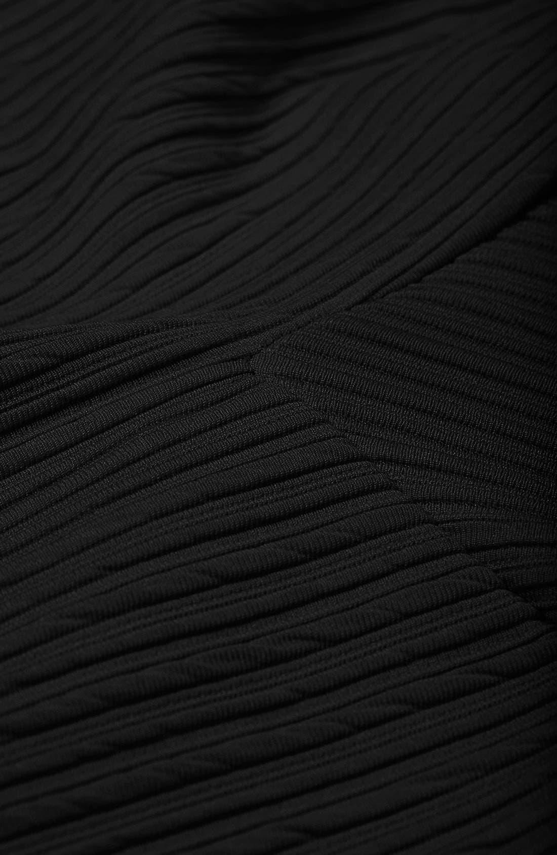 Alternate Image 3  - Topshop Textured Skater Skirt