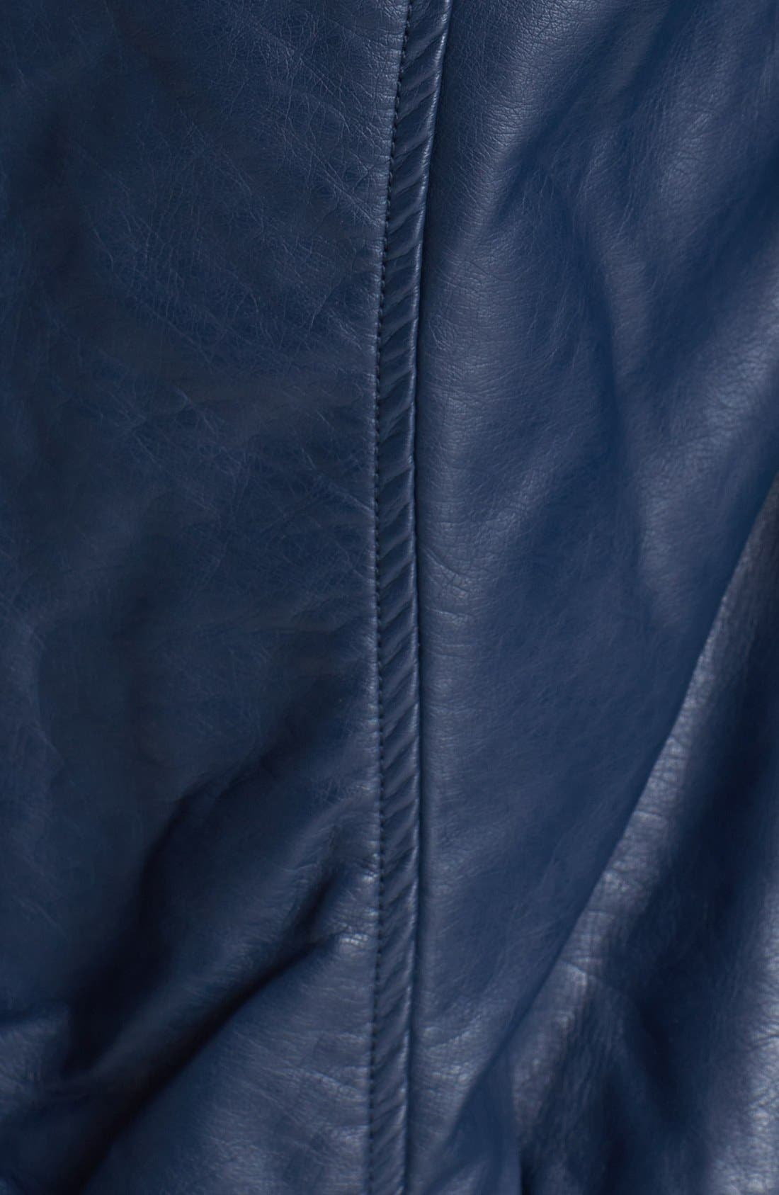 Alternate Image 3  - Thread & Supply Hooded Faux Leather Bomber Jacket