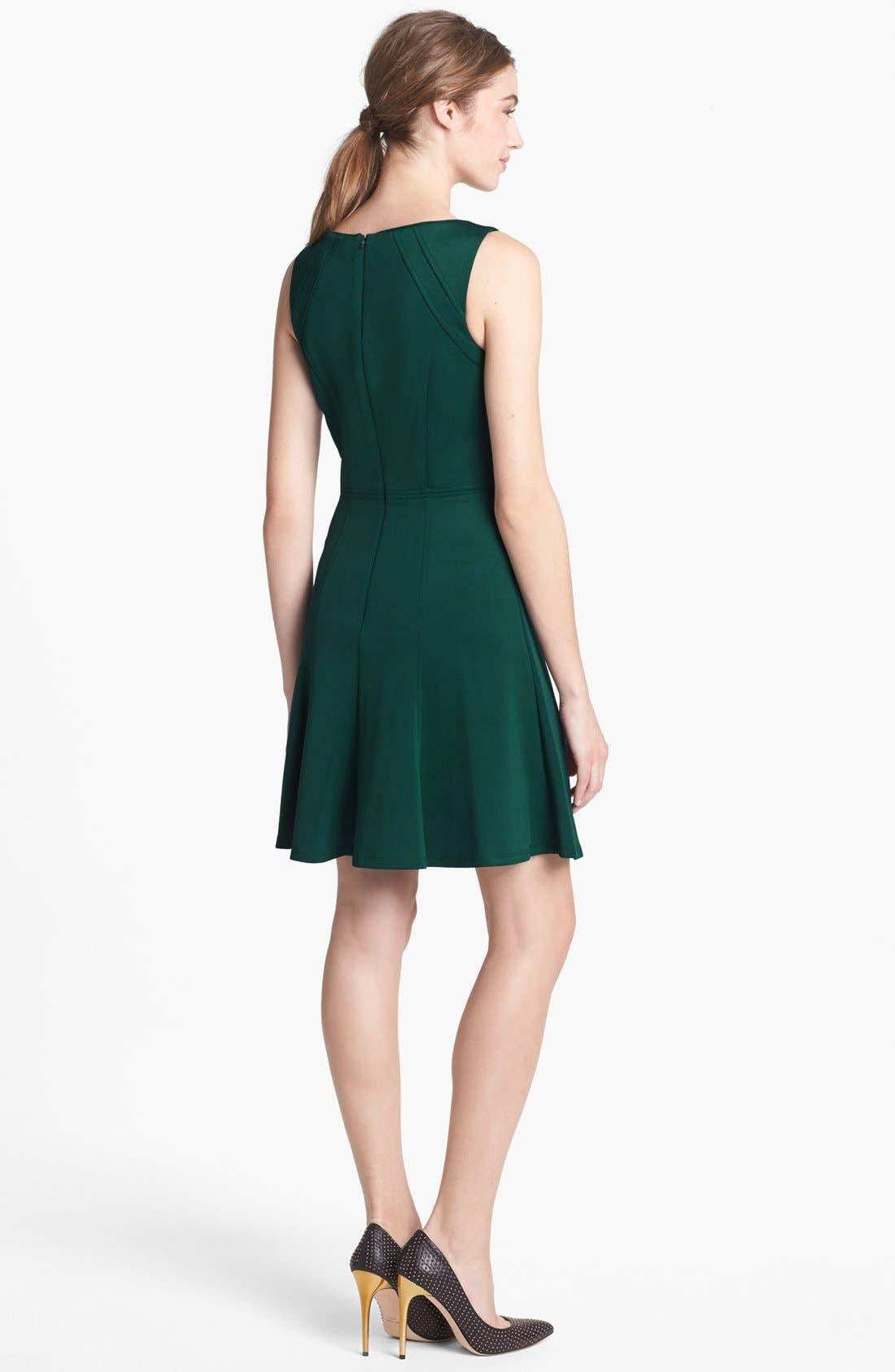 Alternate Image 2  - Vince Camuto Studded Scuba Knit Fit & Flare Dress