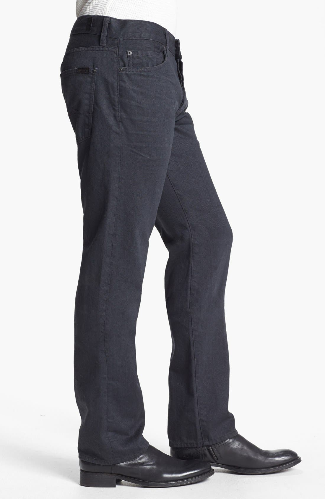 Alternate Image 3  - 7 For All Mankind® 'Standard' Straight Leg Jeans (Agate Grey)